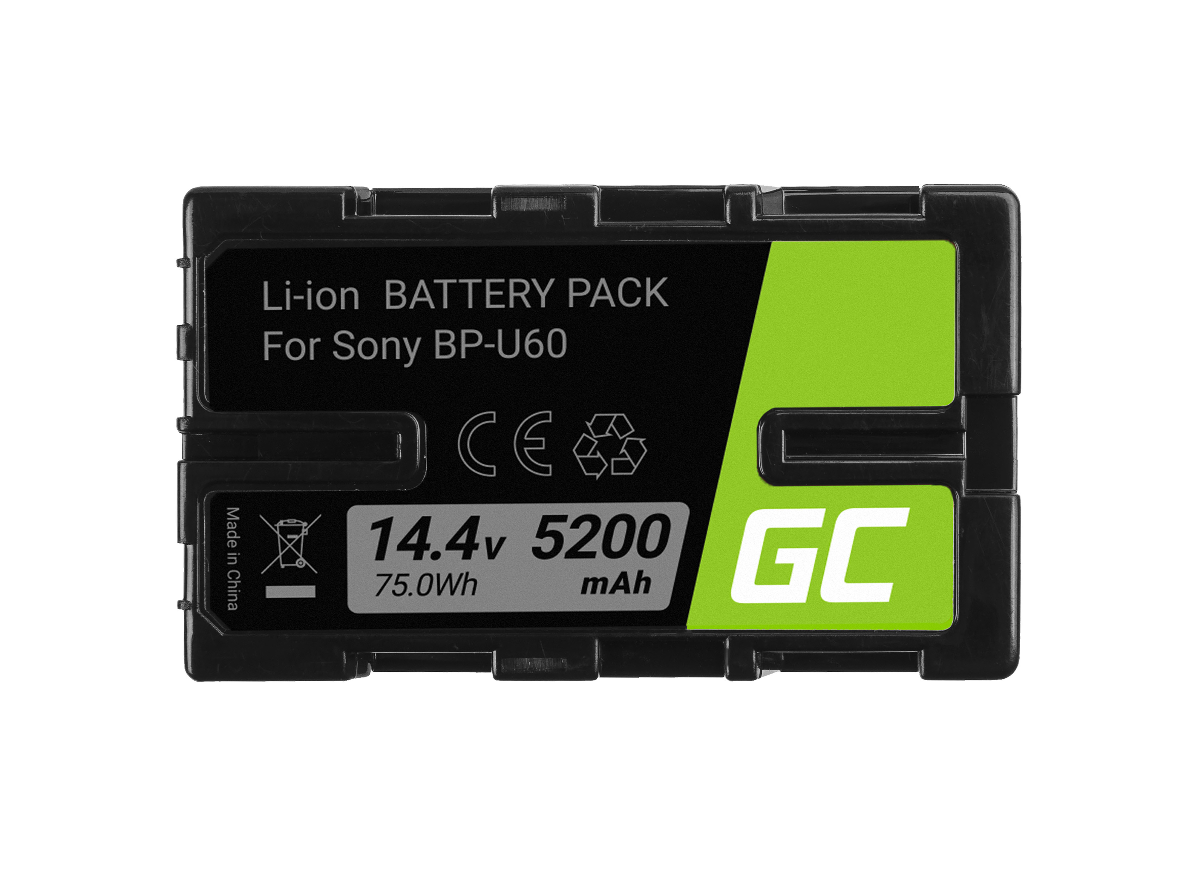 Battery Green Cell BP-U90 BP-U60 BP-U30 for Sony 5200mAh 75Wh 14.4V