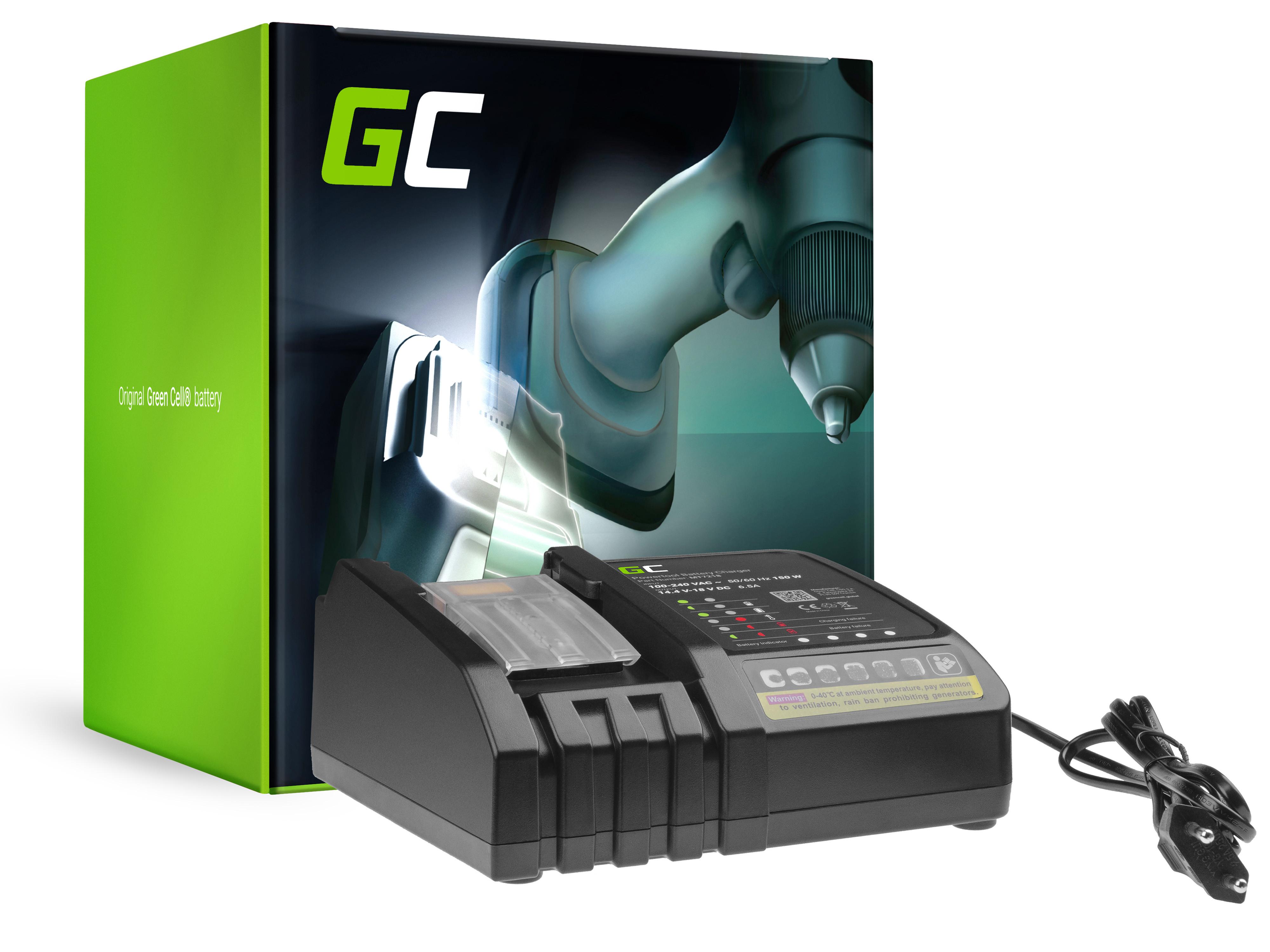 Green Cell Nabíječka Makita MT7218 pro aku Makita BL1815 BL1820 BL1830 BL1830B BL1835 BL1840 BL1850 BL1850B BL1860 BL1860B 18V 6A