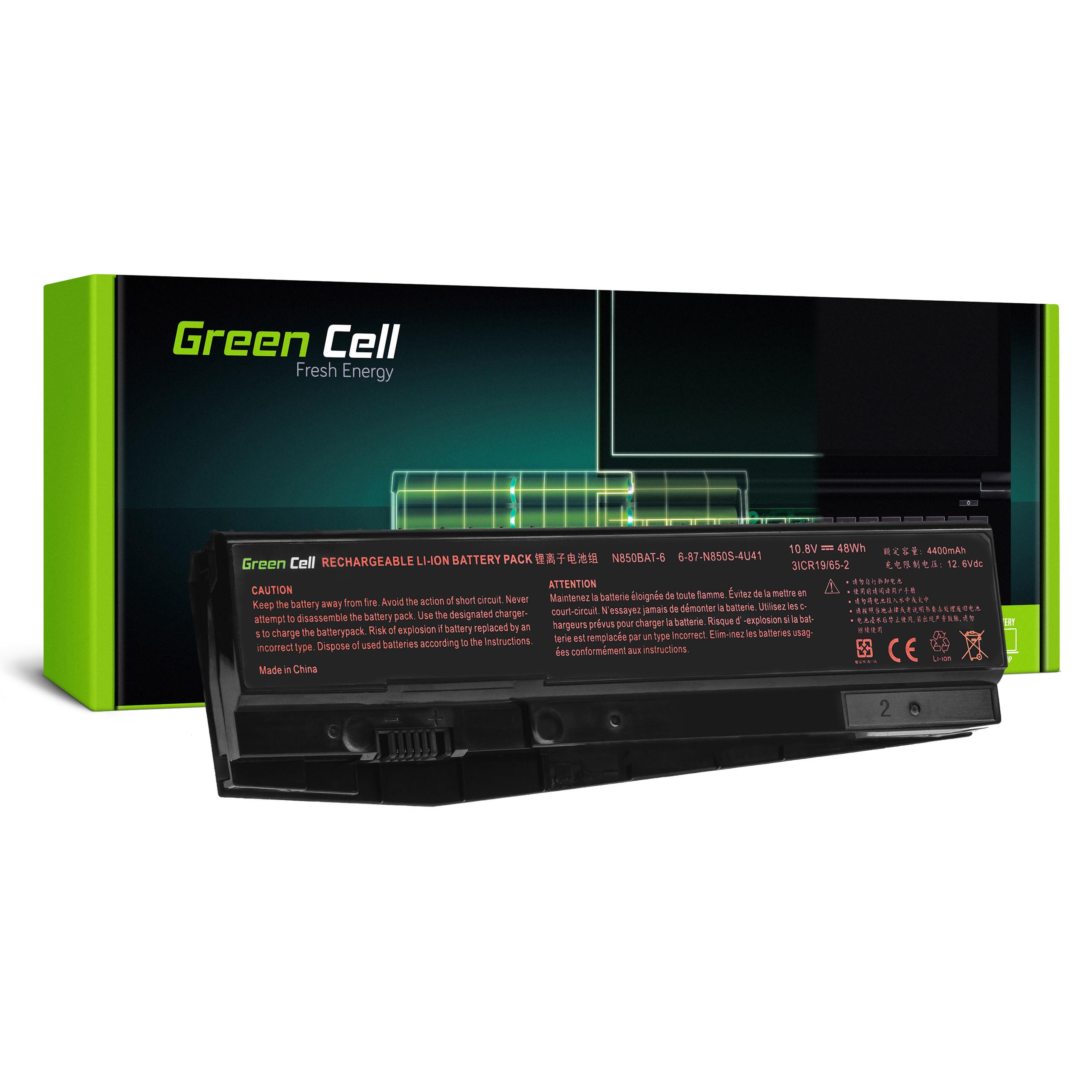 Battery Green Cell N850BAT-6 for Clevo N850 N855 N857 N870 N871 N875, Hyperbook N85 N85S N87 N87S