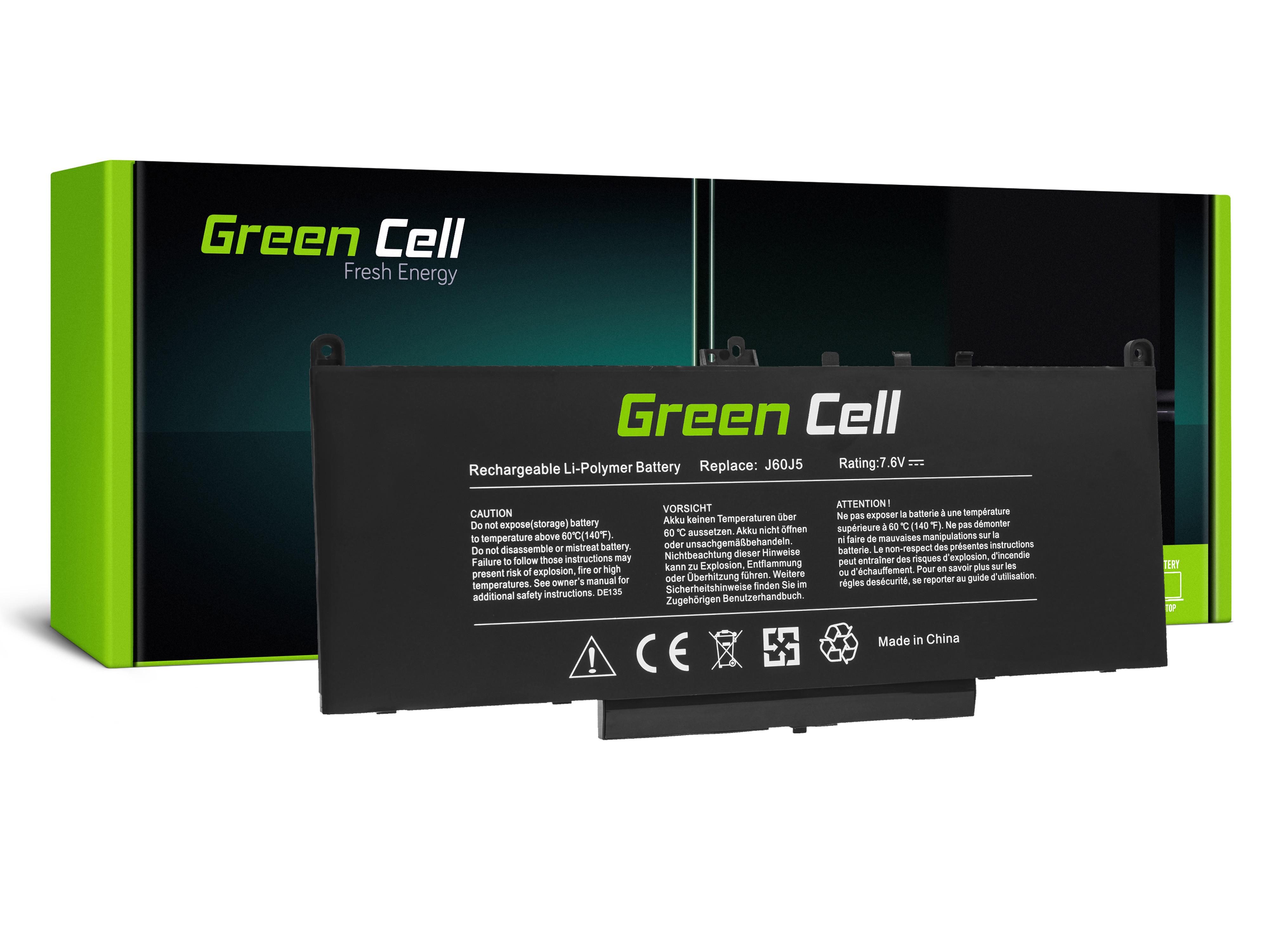Green Cell Laptop Baterie Baterie J60J5 pro Dell Latitude E7270 E7470 5800mAh