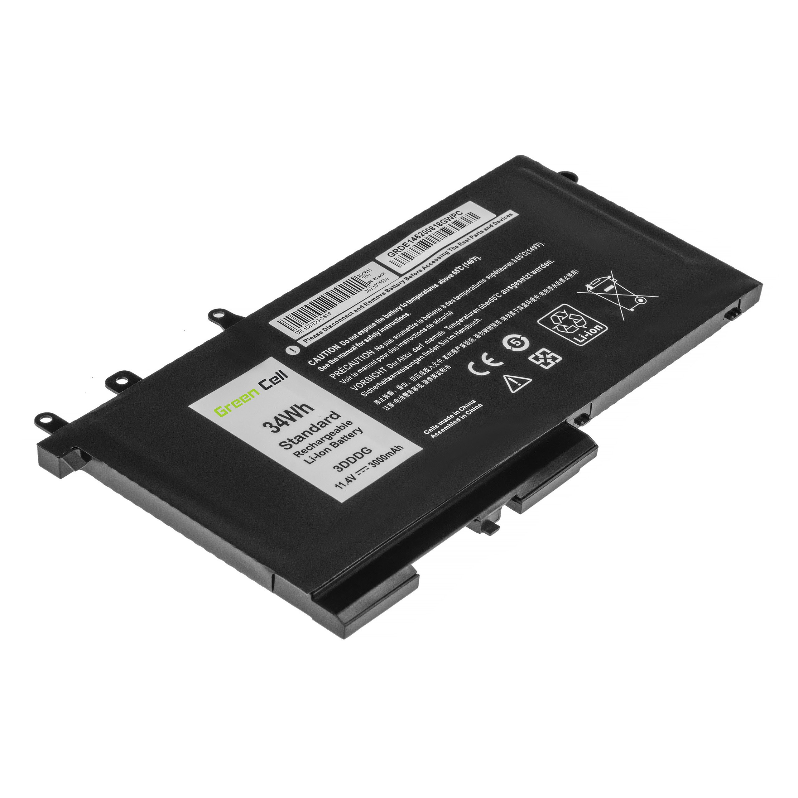 Green Cell Baterie 3DDDG 93FTF pro Dell Latitude 5280 5290 5480 5490 5495 5580 5590