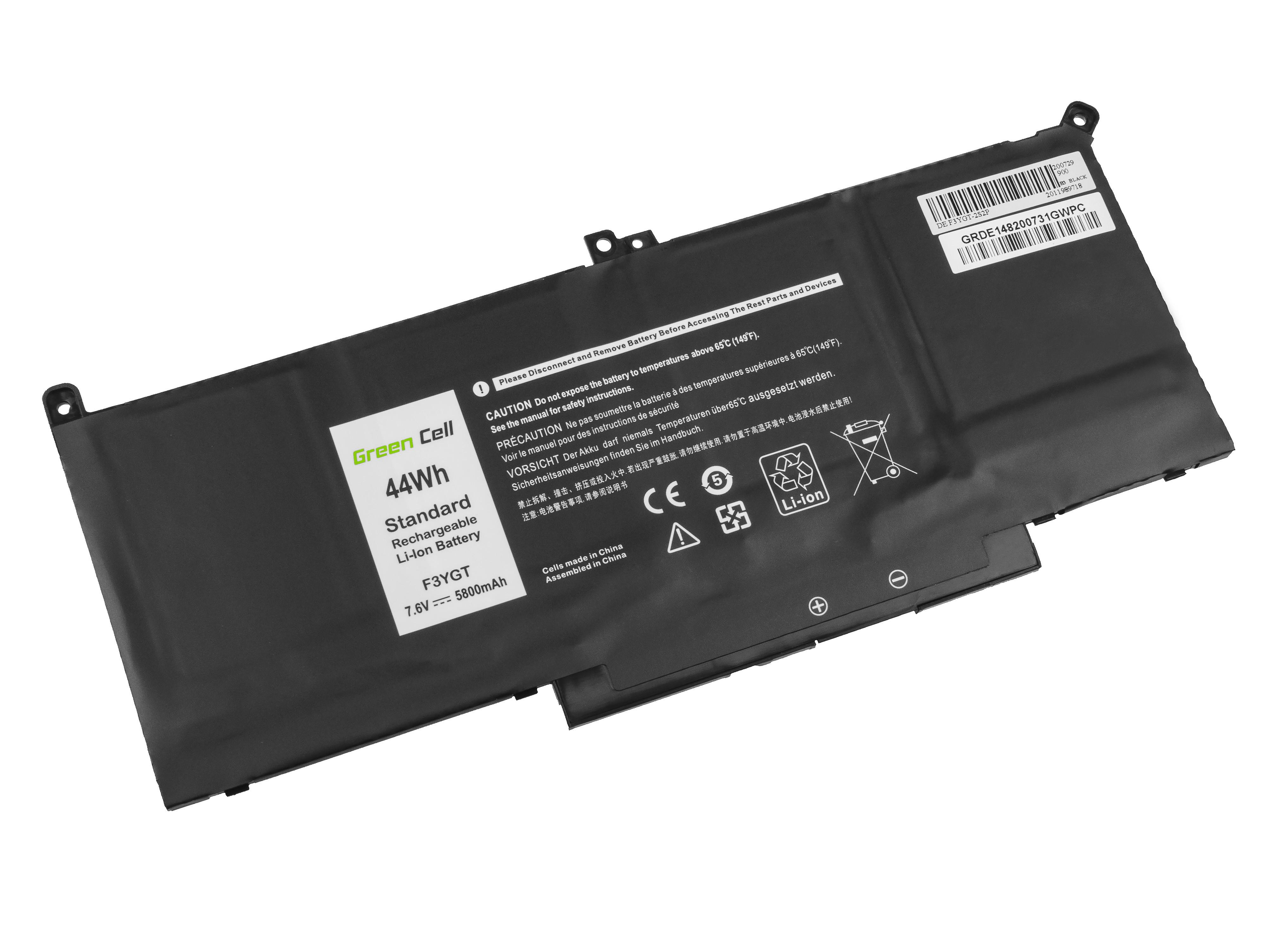 Green Cell DE148 Baterie Dell F3YGT, Dell Latitude 7280 7290 7380 7390 7480 7490 5800mAh Li-Pol - neoriginální