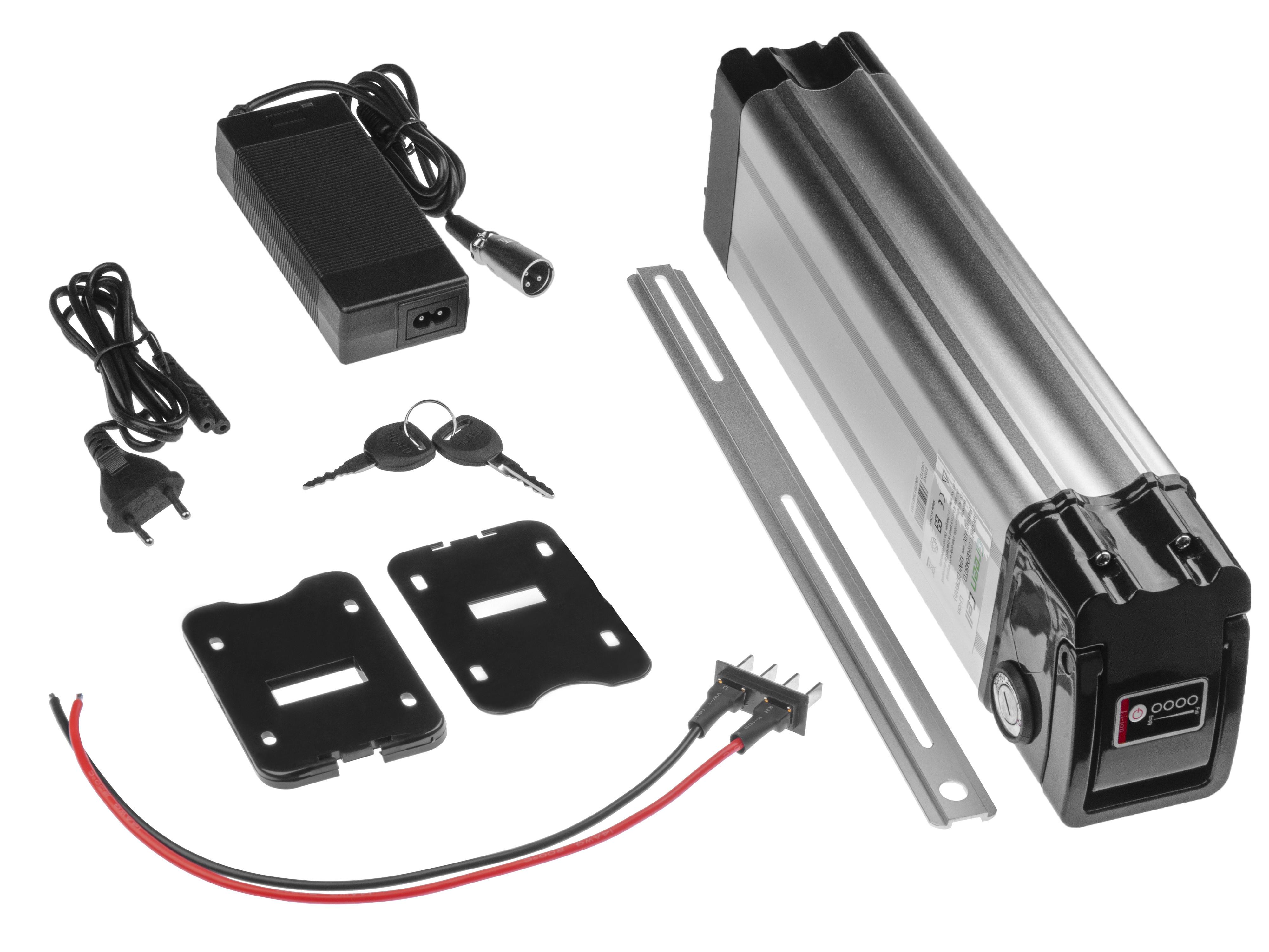 Battery Green Cell Silverfish 48V 11.6Ah 556.8Wh for E-Bike Pedelec