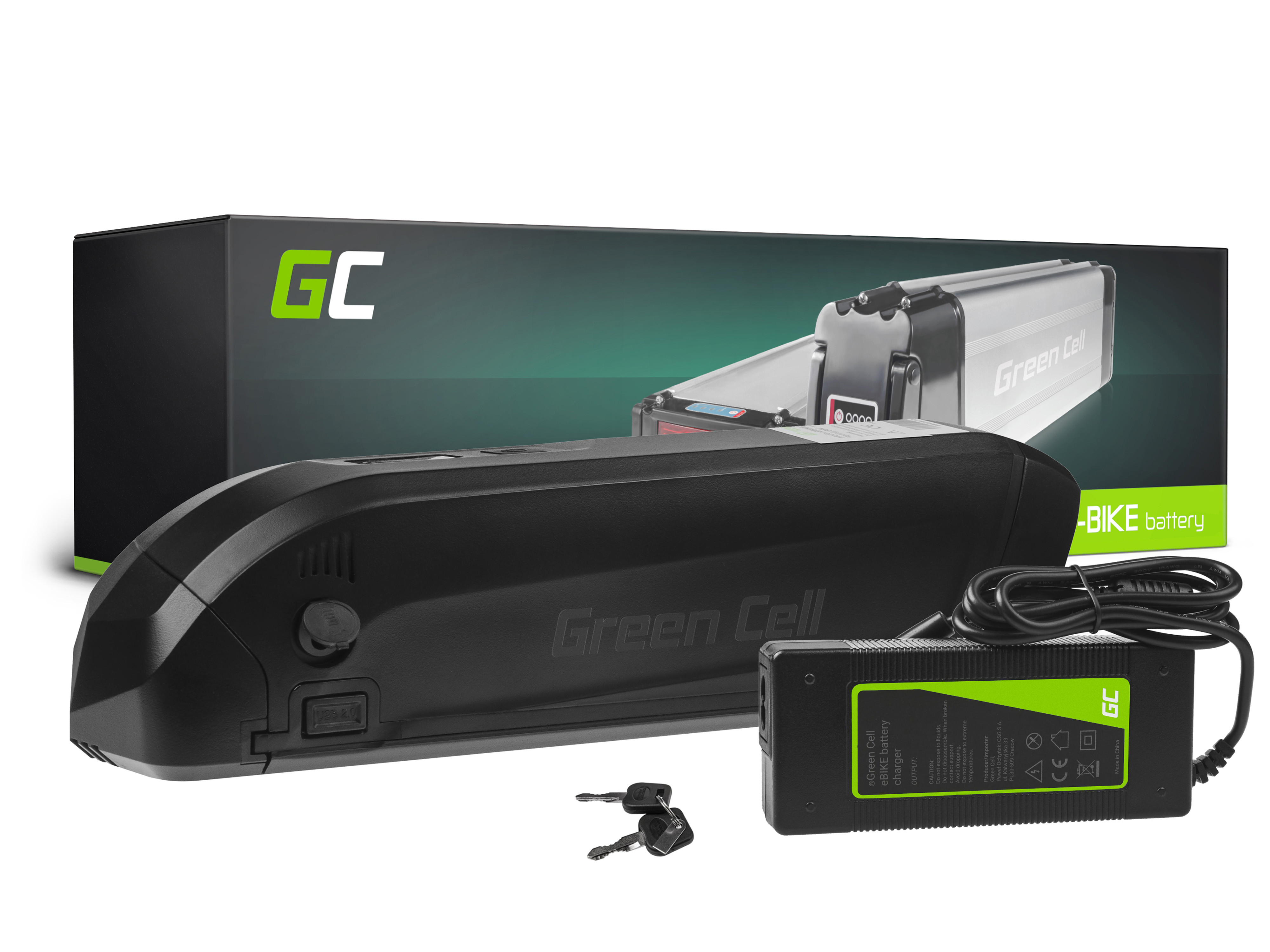 Green Cell Baterie 36V 12Ah 432Wh Down Tube pro E-Bike Pedelec