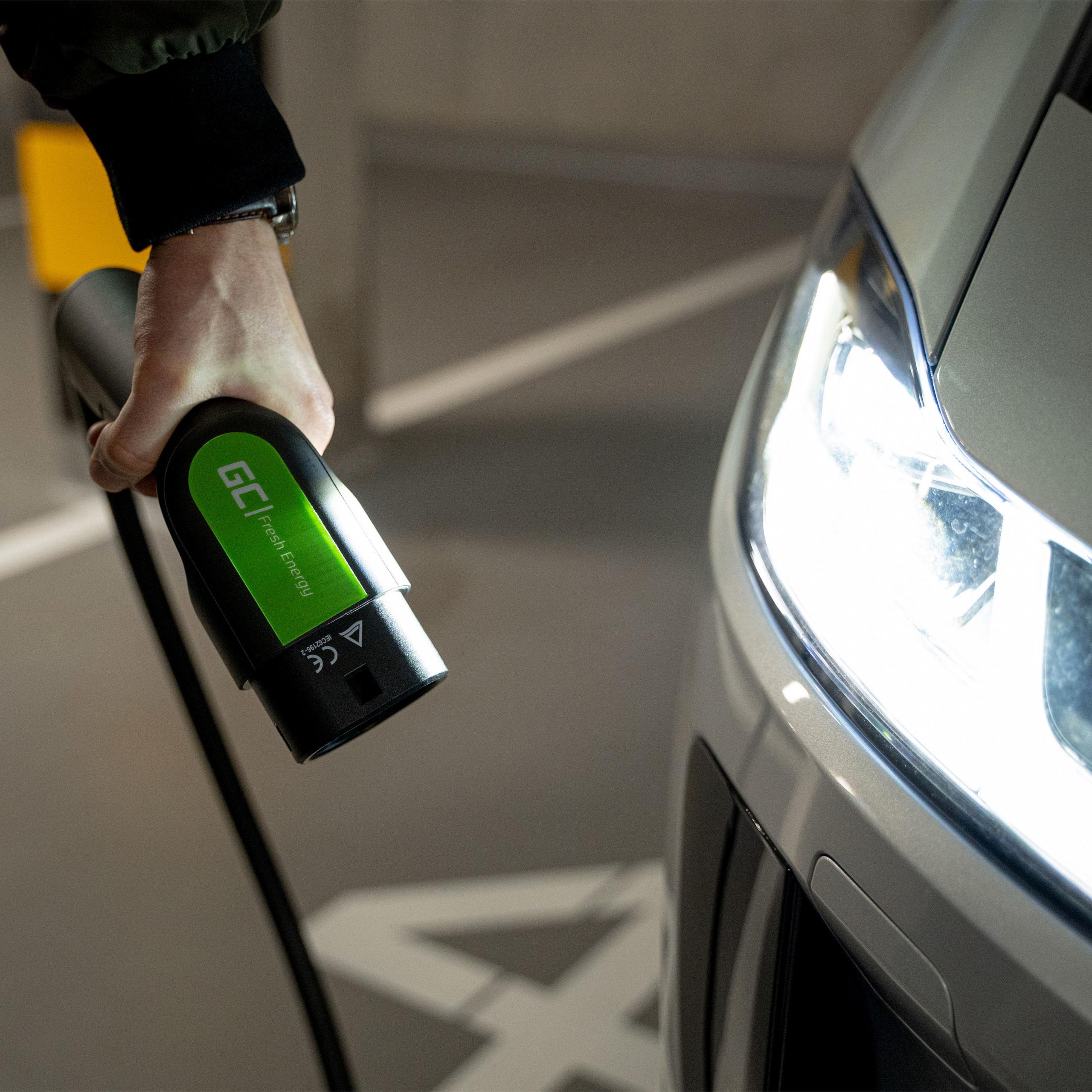 Green Cell Nabíjecí kabel Type 2 11kW 5m pro nabíjení EV Tesla Model 3 / S / X, Leaf, ZOE, i3, ID.3, I-Pace, E-Tron, Kona, Ioniq