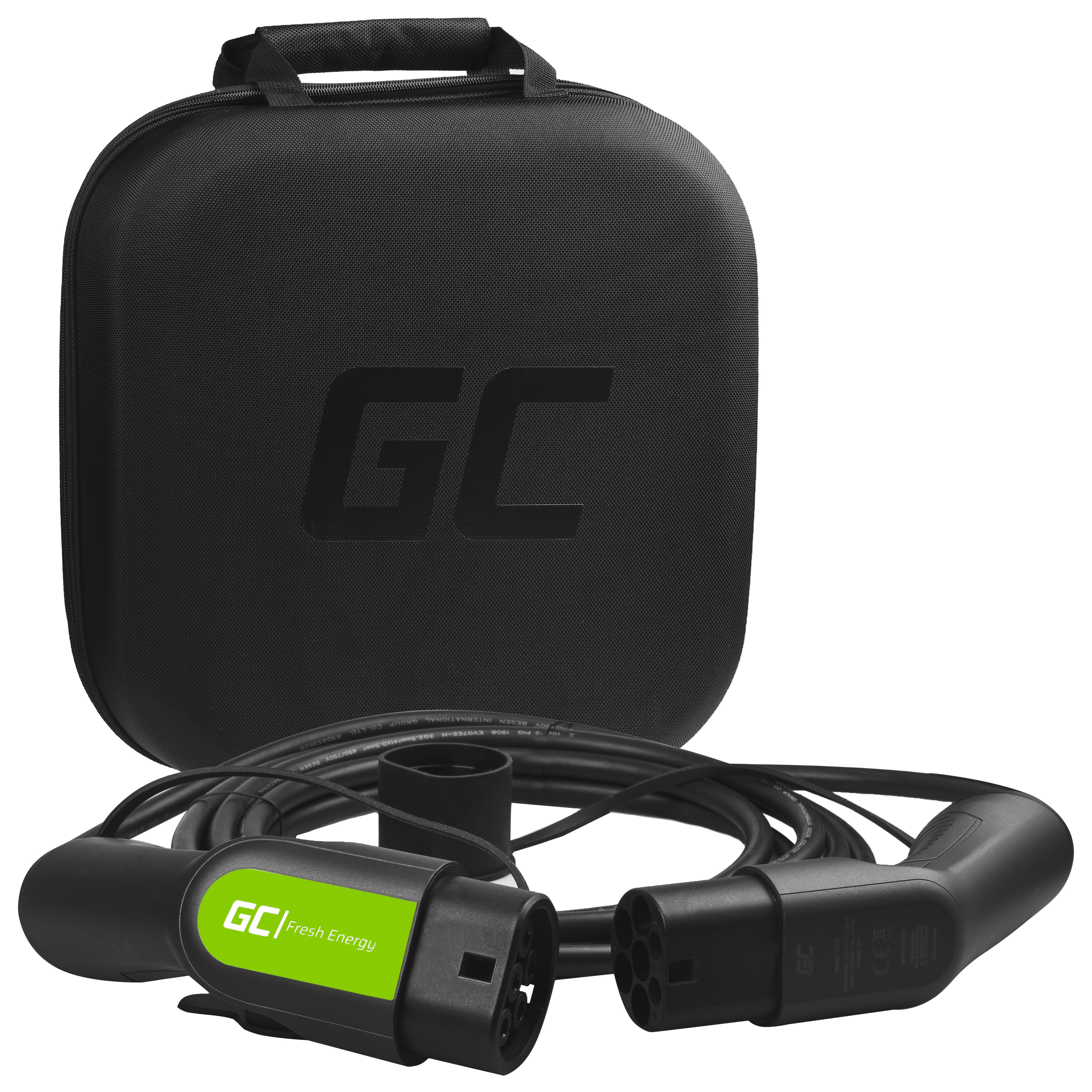 Green Cell Nabíjecí kabel Type 2 3.6kW 5m pro nabíjení Outlander PHEV, Golf / Passat GTE, 330e, Panamera E-Hybrid, Prius Plug-In