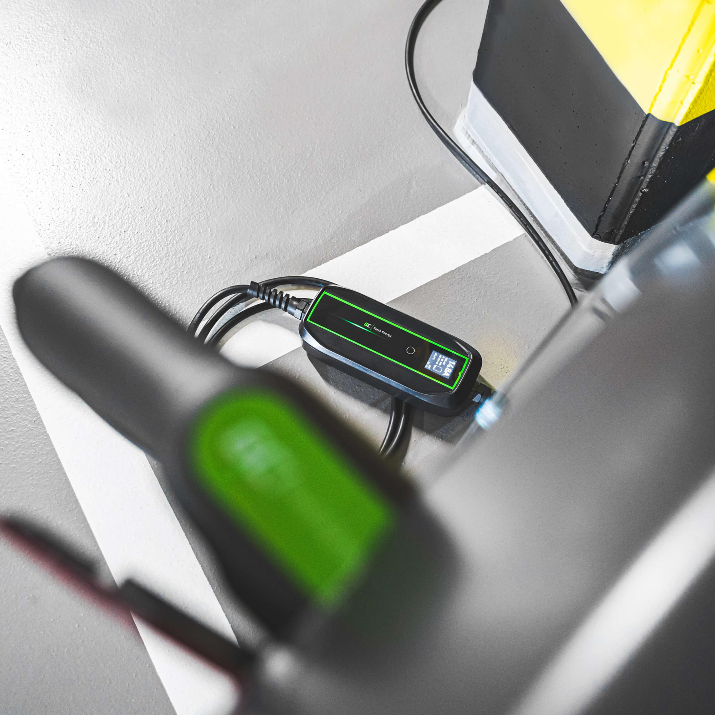 Green Cell Nabíjecí kabel EV PowerCable 3,6kW Schuko - mobilní nabíječka typu 1 pro nabíjení elektromobilů a hybridů typu Plug-In