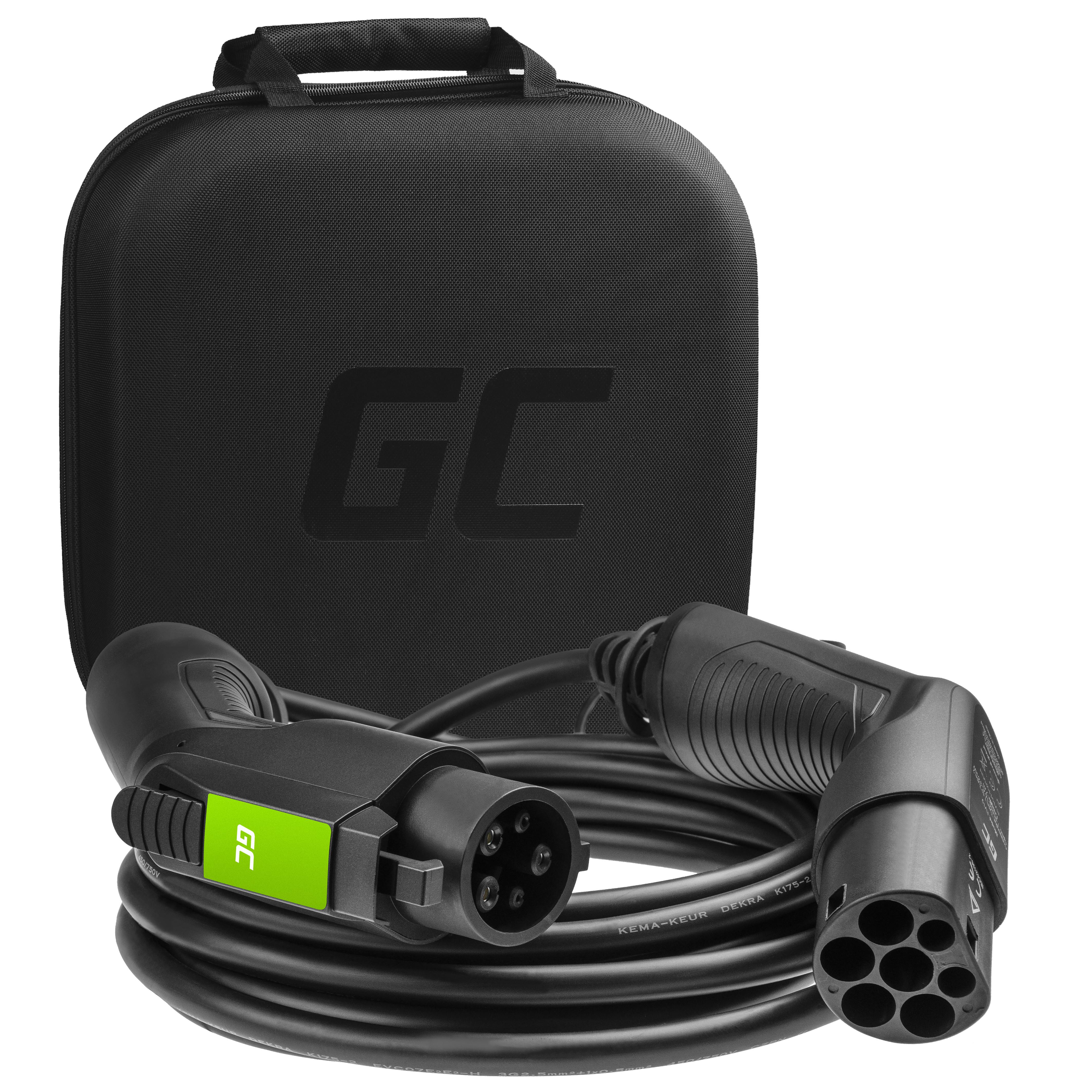 Green Cell Nabíjecí kabel Typ 1 7.2kW 32A 7m pro napájení elektro mobilů EV