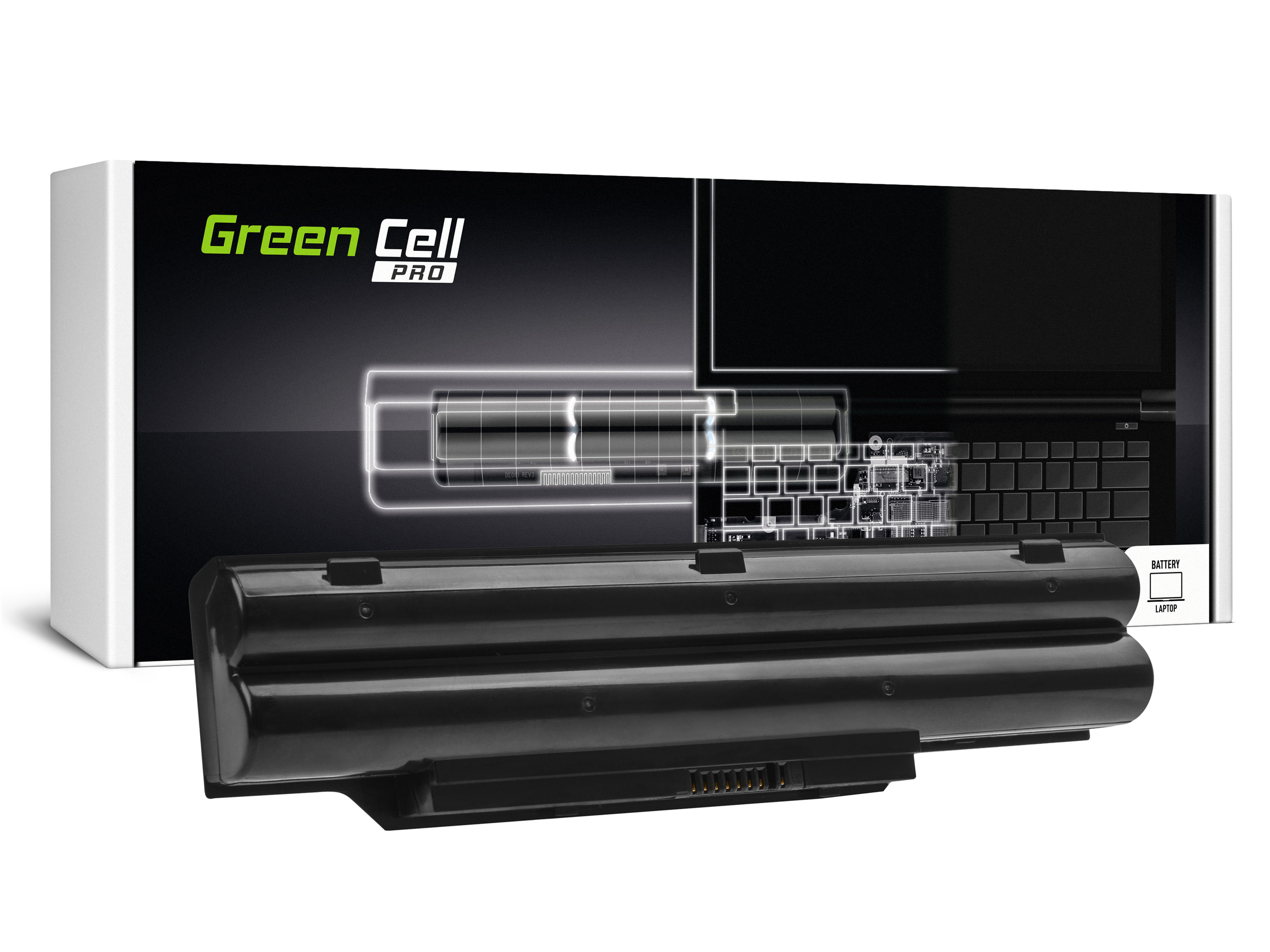 Green Cell PRO Baterie FPCBP331 FMVNBP213 pro Fujitsu Lifebook A532 AH532