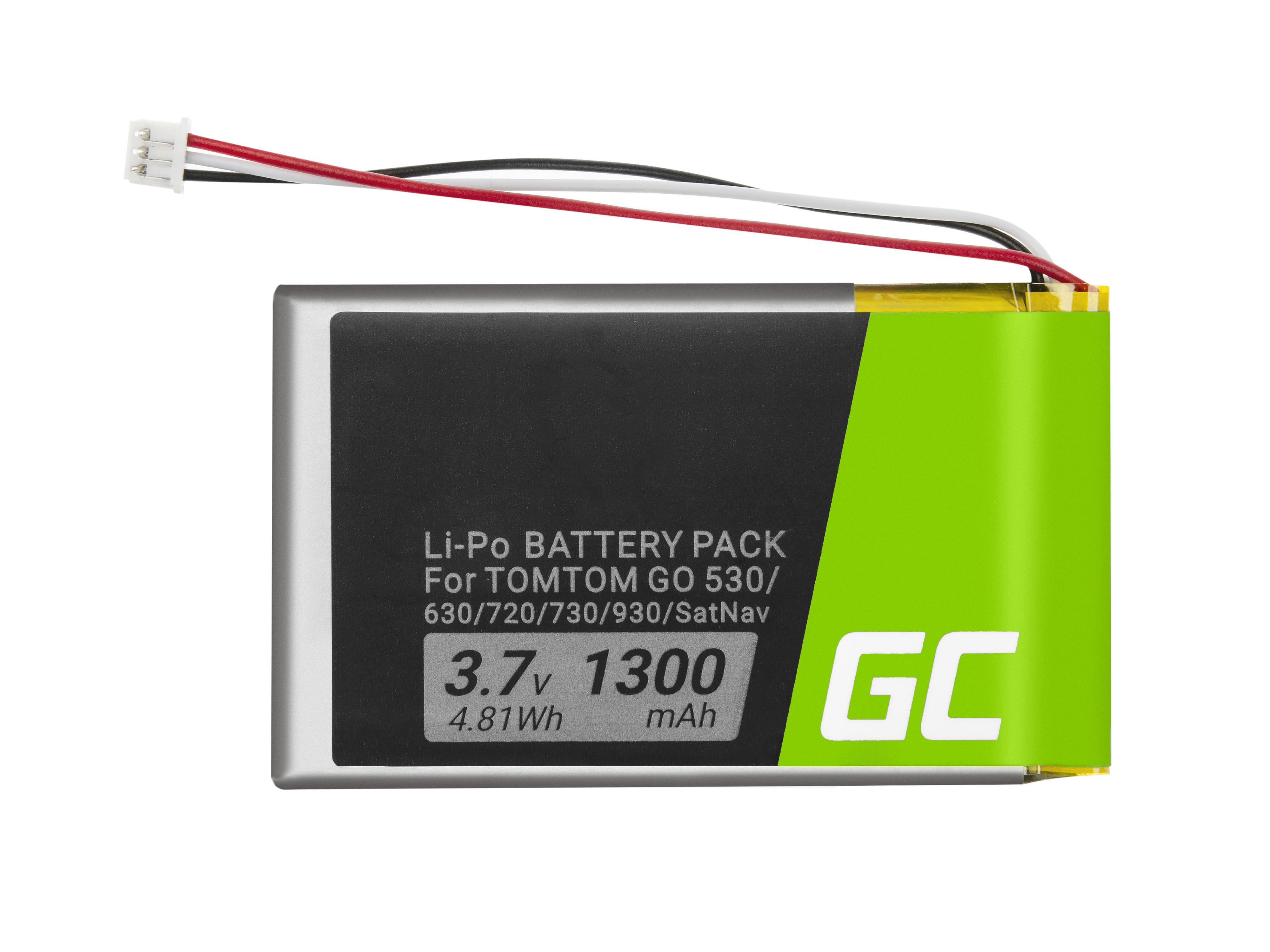 Green Cell Baterie TomTom AHL03714000 VF8 1697461 pro TomTom GO 530 630 630T 720 730 730T 930 930T SatNav 1300mAh Li-Pol – neoriginální