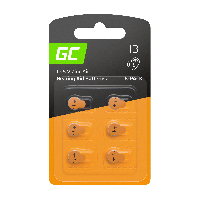 Green Cell Baterie 6ks pro naslouchátko Typ 13 P13 PR48 ZL2 ZincAir