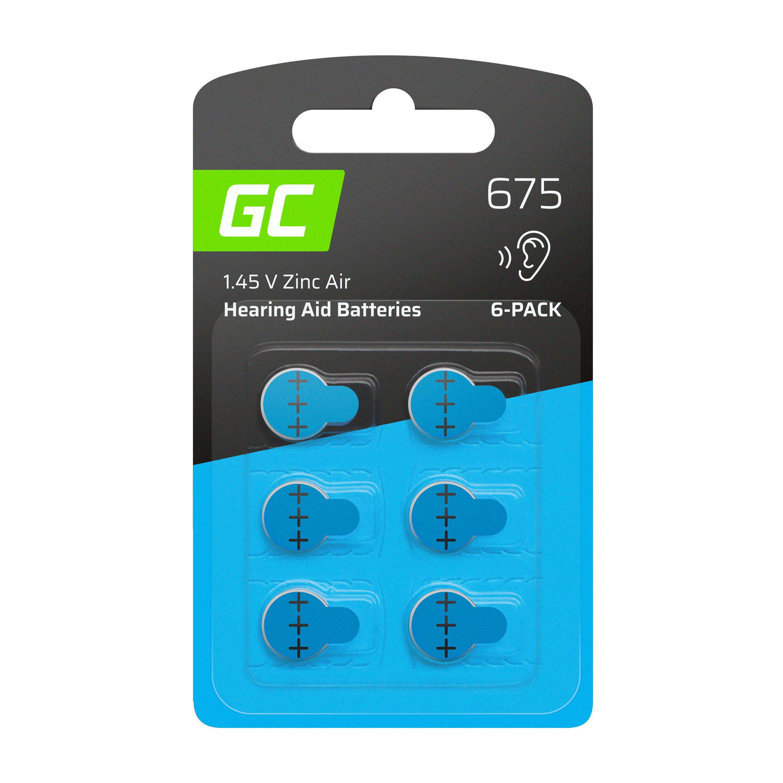 Green Cell Baterie 6ks pro naslouchátko Typ 675 P675 PR44 ZL1 ZincAir