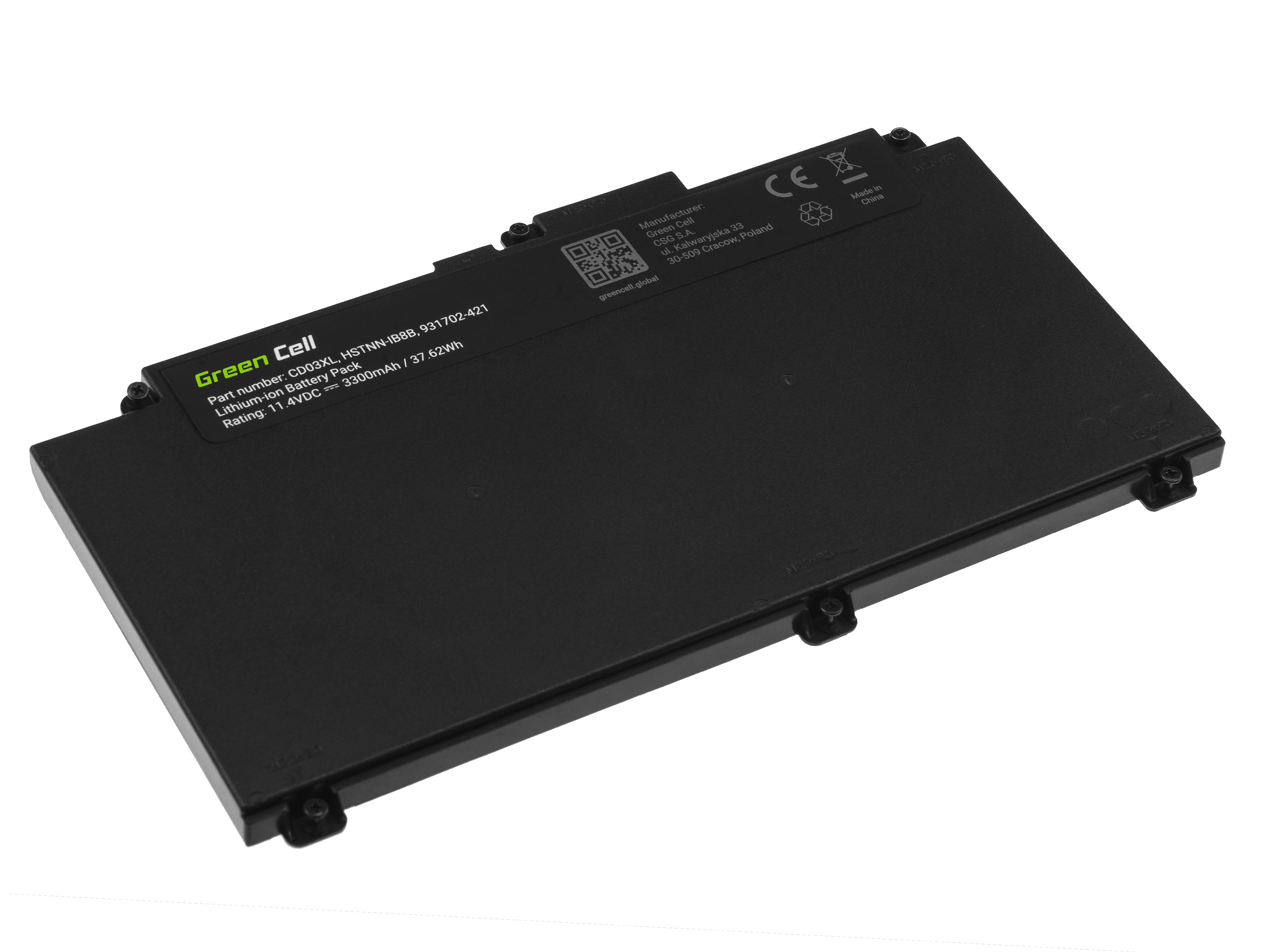 Battery Green Cell CD03XL for HP ProBook 640 G4 G5 645 G4 650 G4 G5
