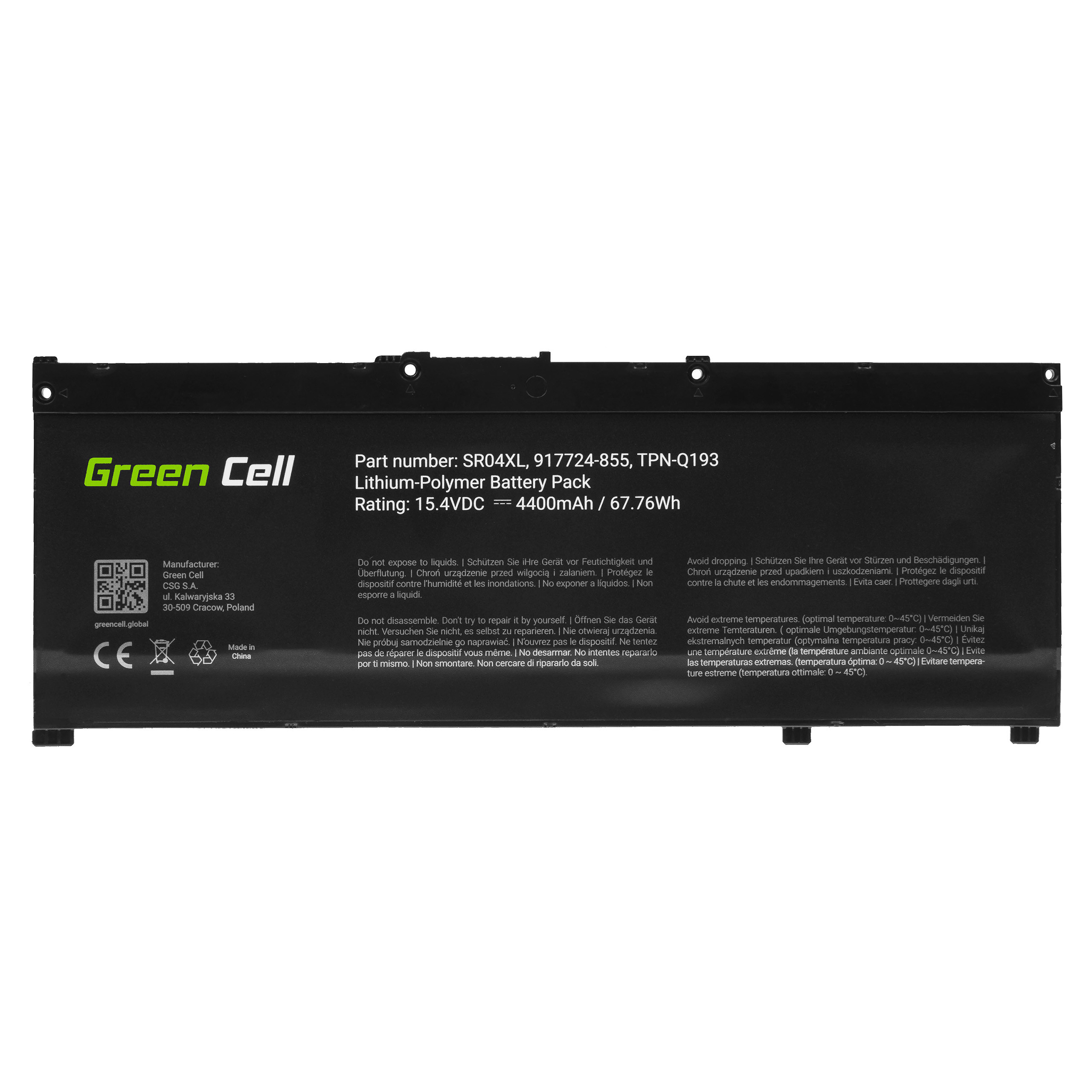 Green Cell Baterie SR04XL pro HP Omen 15-CE 15-DC 17-CB, HP Pavilion Power 15-CB
