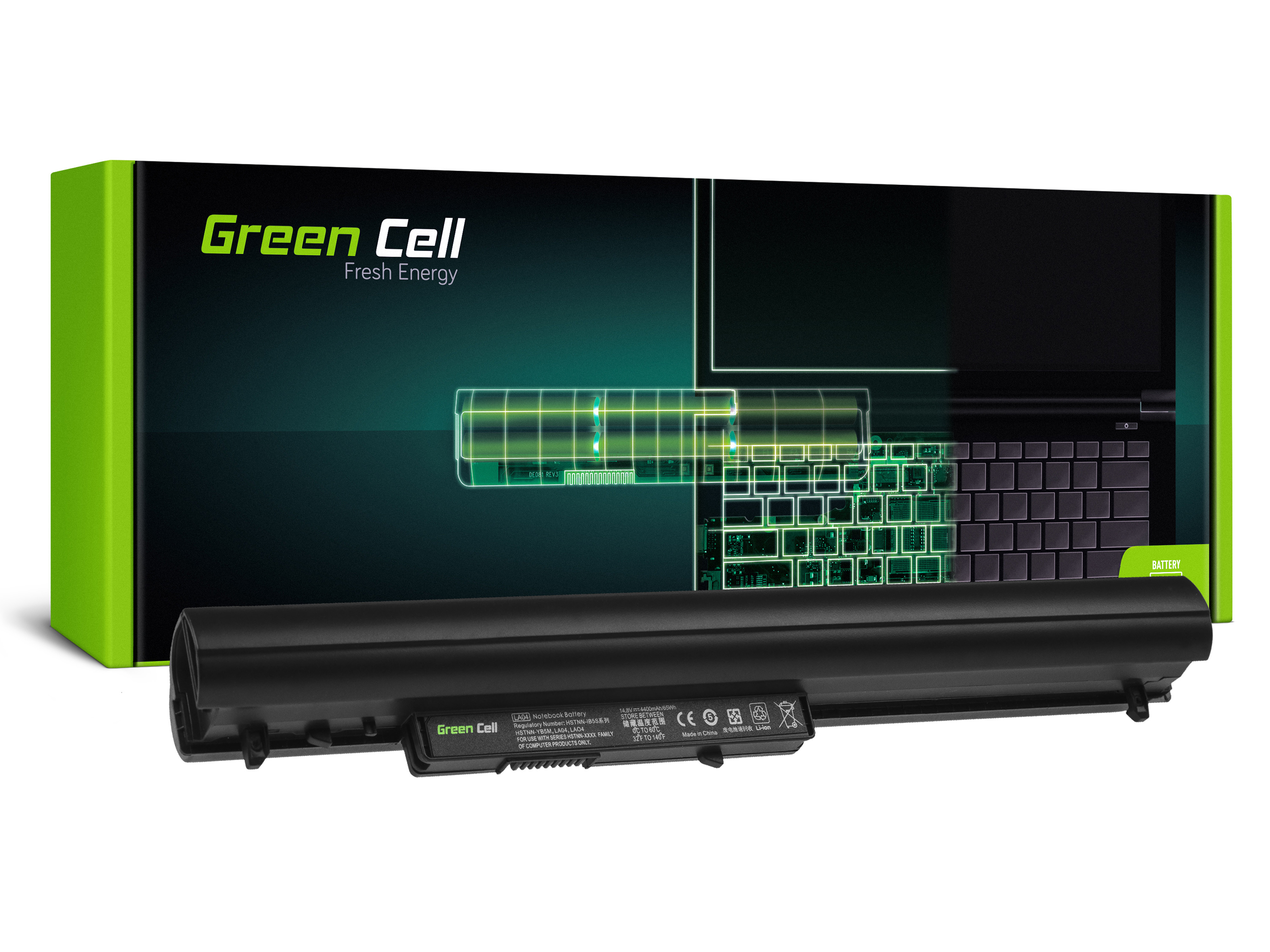 Green Cell Baterie Extended LA04 LA04DF pro HP Pavilion 15-N 15-N025SW 15-N065SW 15-N070SW 15-N080SW 15-N225SW 15-N230