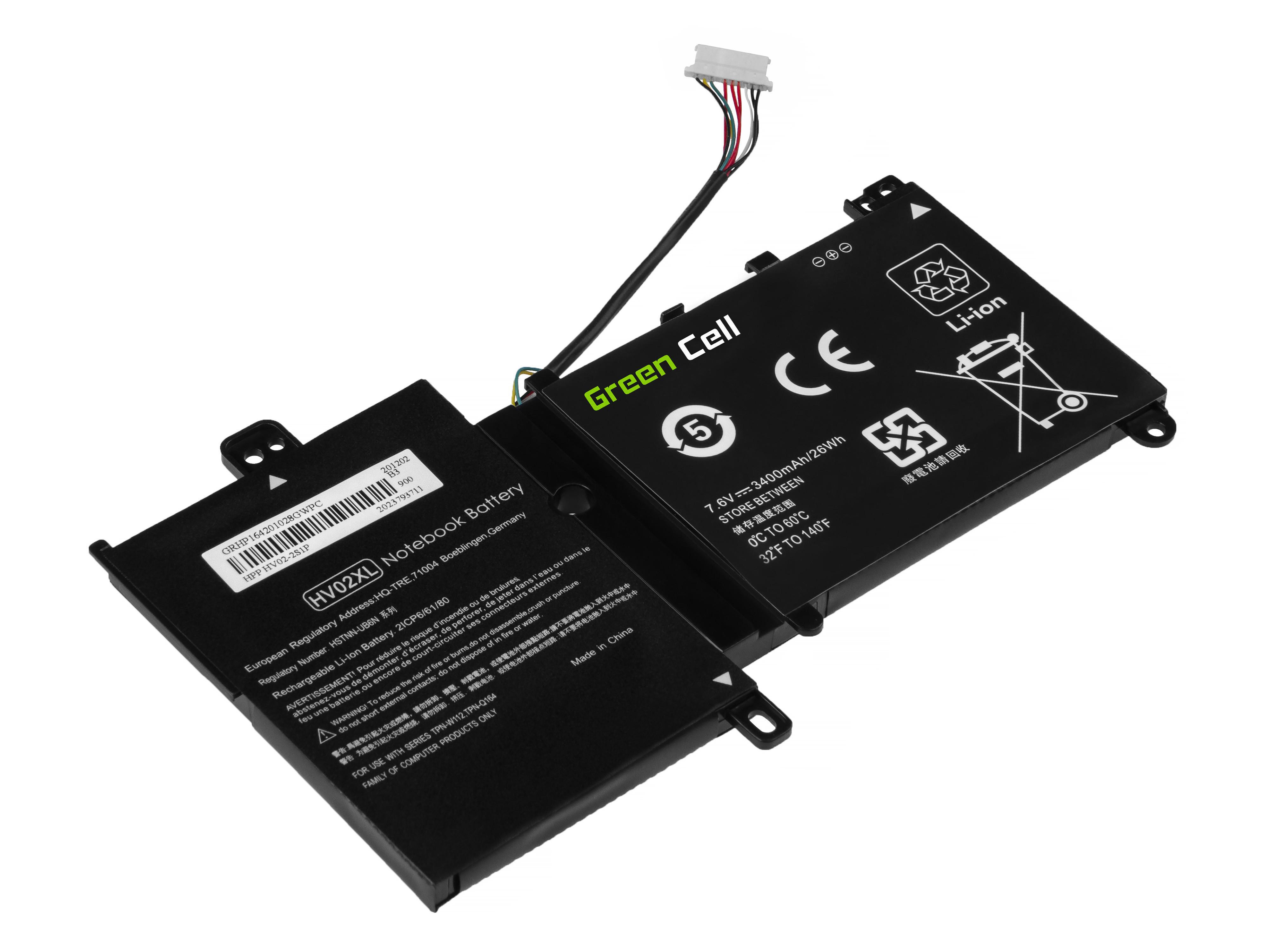 Green Cell Baterie HV02XL pro HP 11-F HP Pavilion x360 310 G2 11-K HP Spectre 13-4000