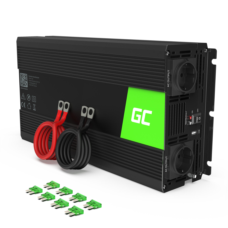 Inverter Green Cell® 24V to 230V Pure sine 1500W