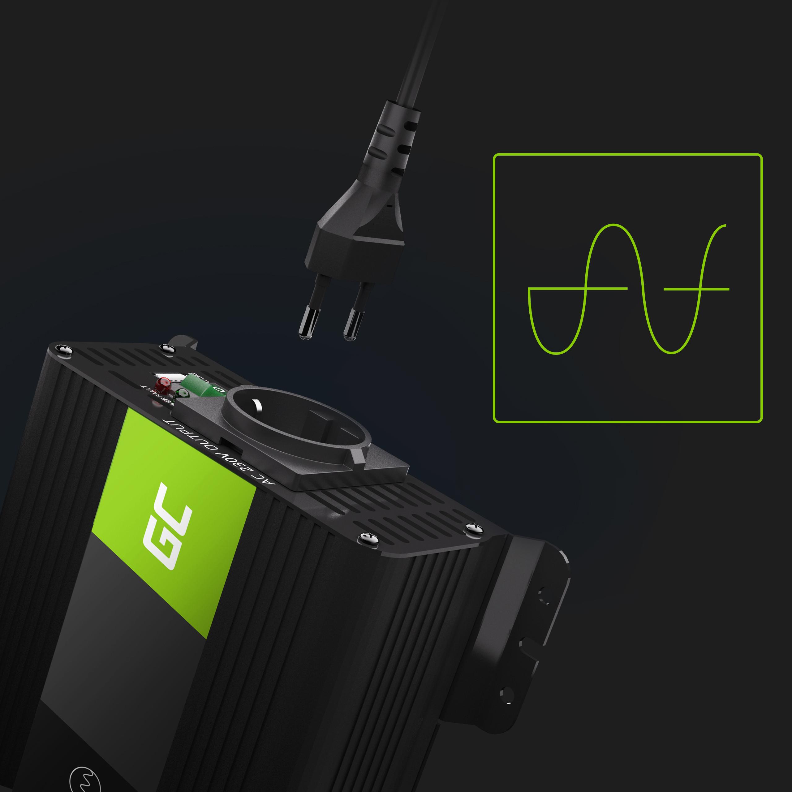 Auto měnič napětí z 12V na 230V, 300W/600W - čistý sinus