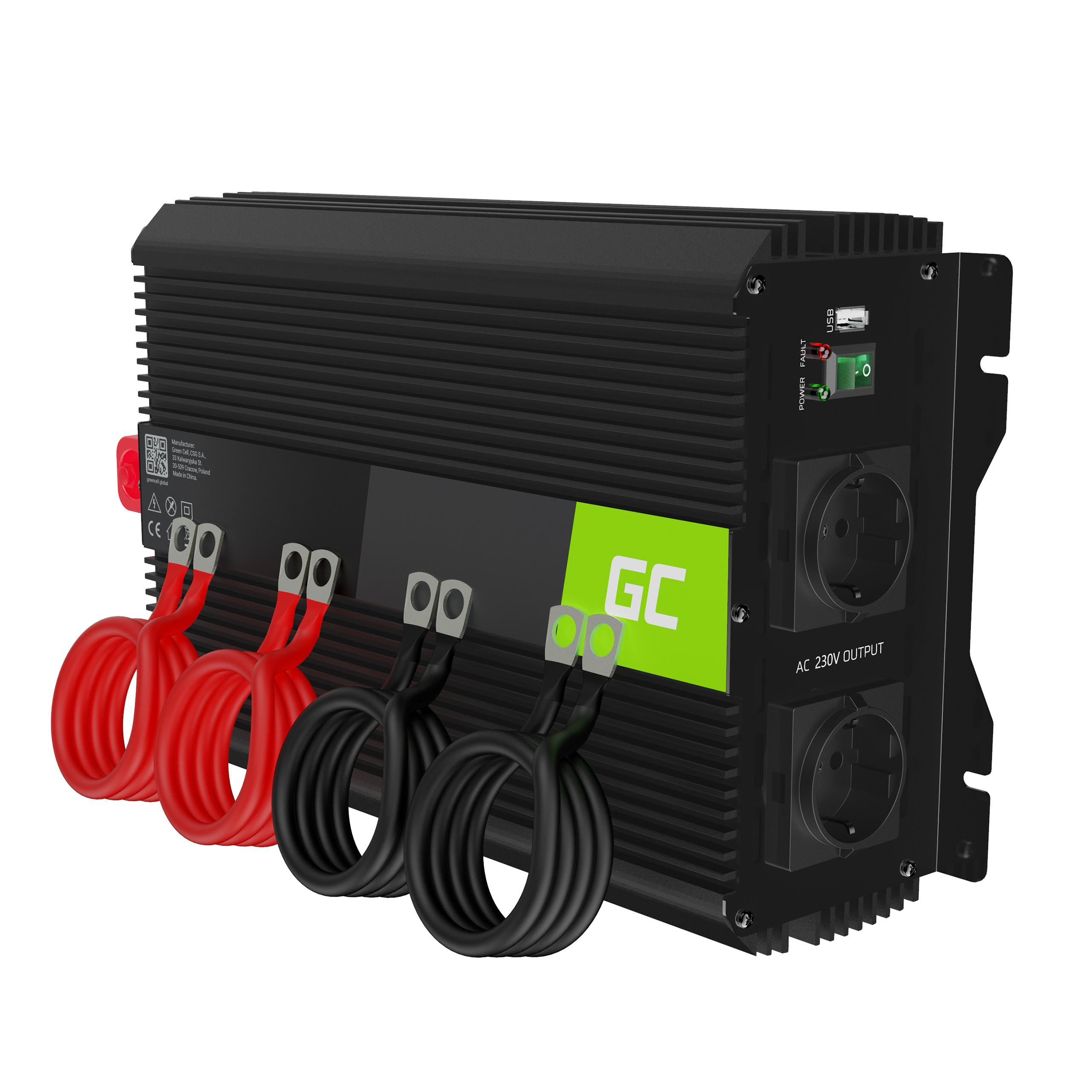 Green Cell Auto měnič napětí z 12V na 230V, 3000W/6000W - modifikovaný sinus