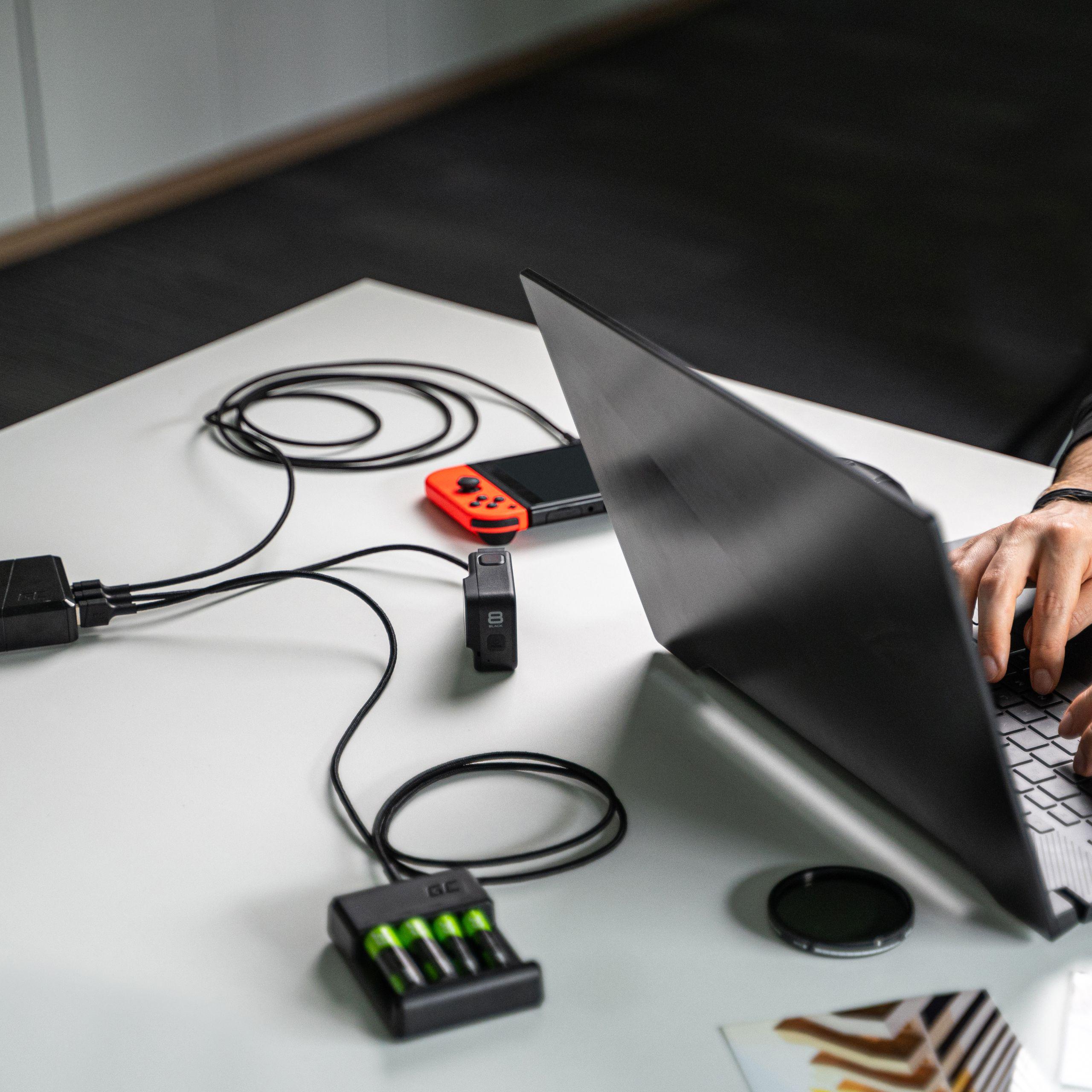 Green Cell kabel GC PowerStream USB-A - USB-C 120cm, rychlé nabíjení Ultra Charge, QC 3.0