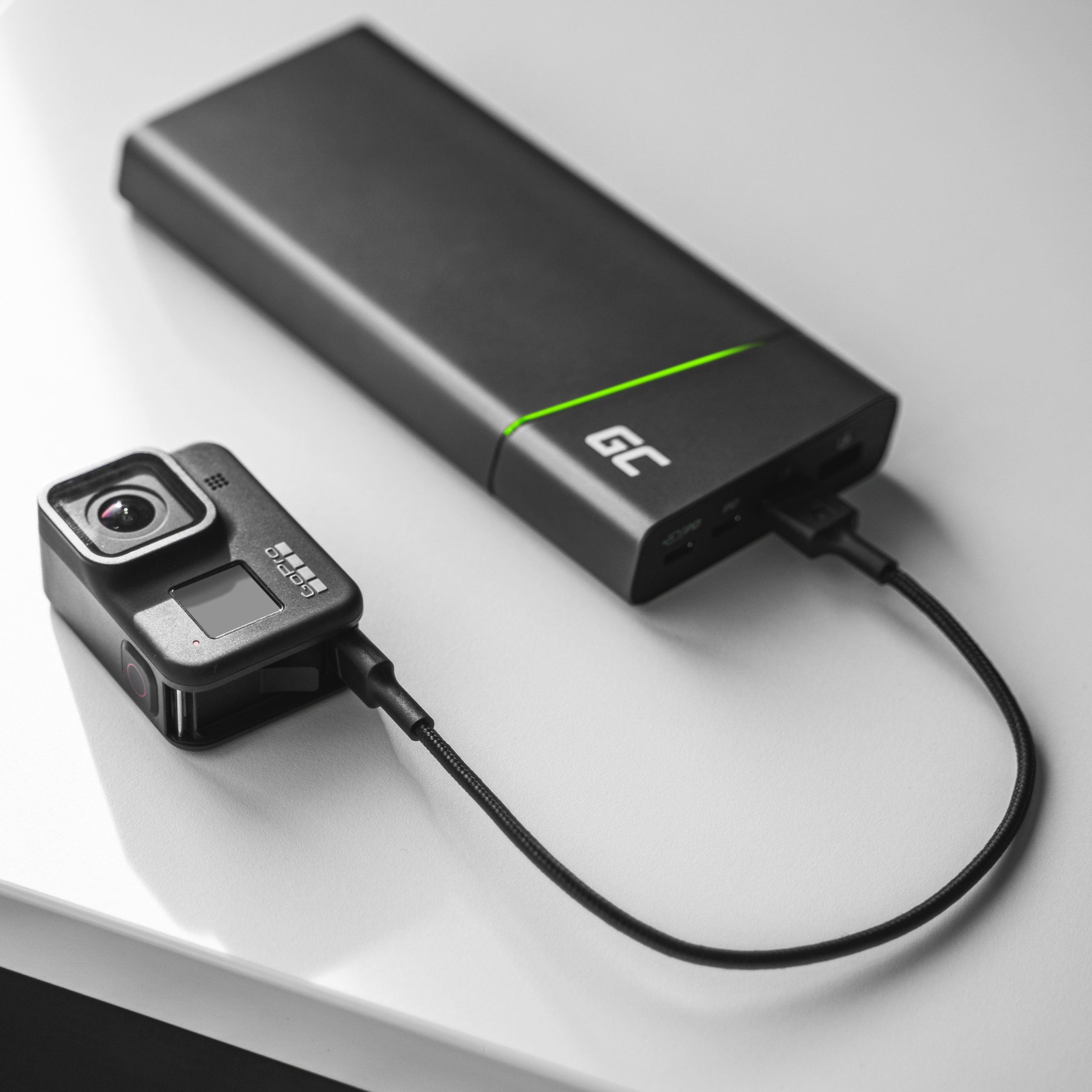 Cable Green Cell GC PowerStream USB-A - USB-C 30cm quick charge Ultra Charge, QC 3.0