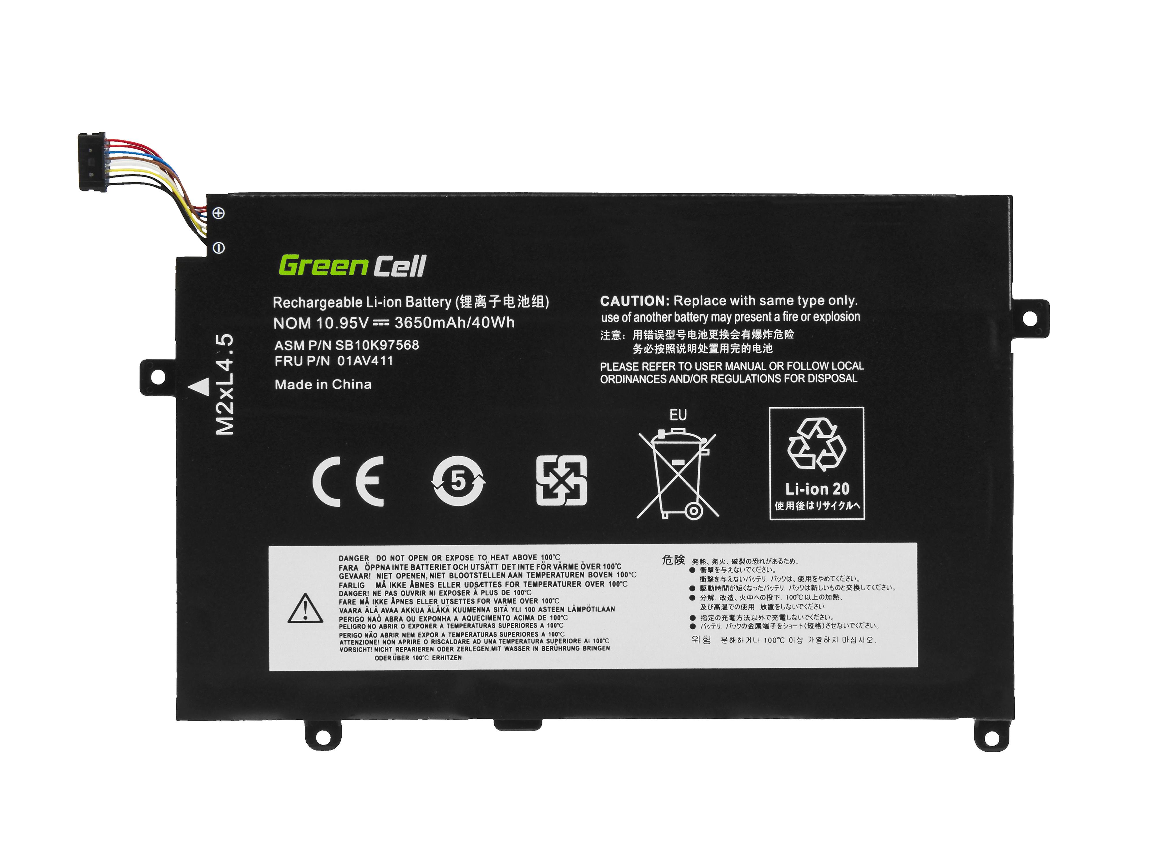 Green Cell Baterie 01AV411 01AV412 01AV413 pro Lenovo ThinkPad E470 E475