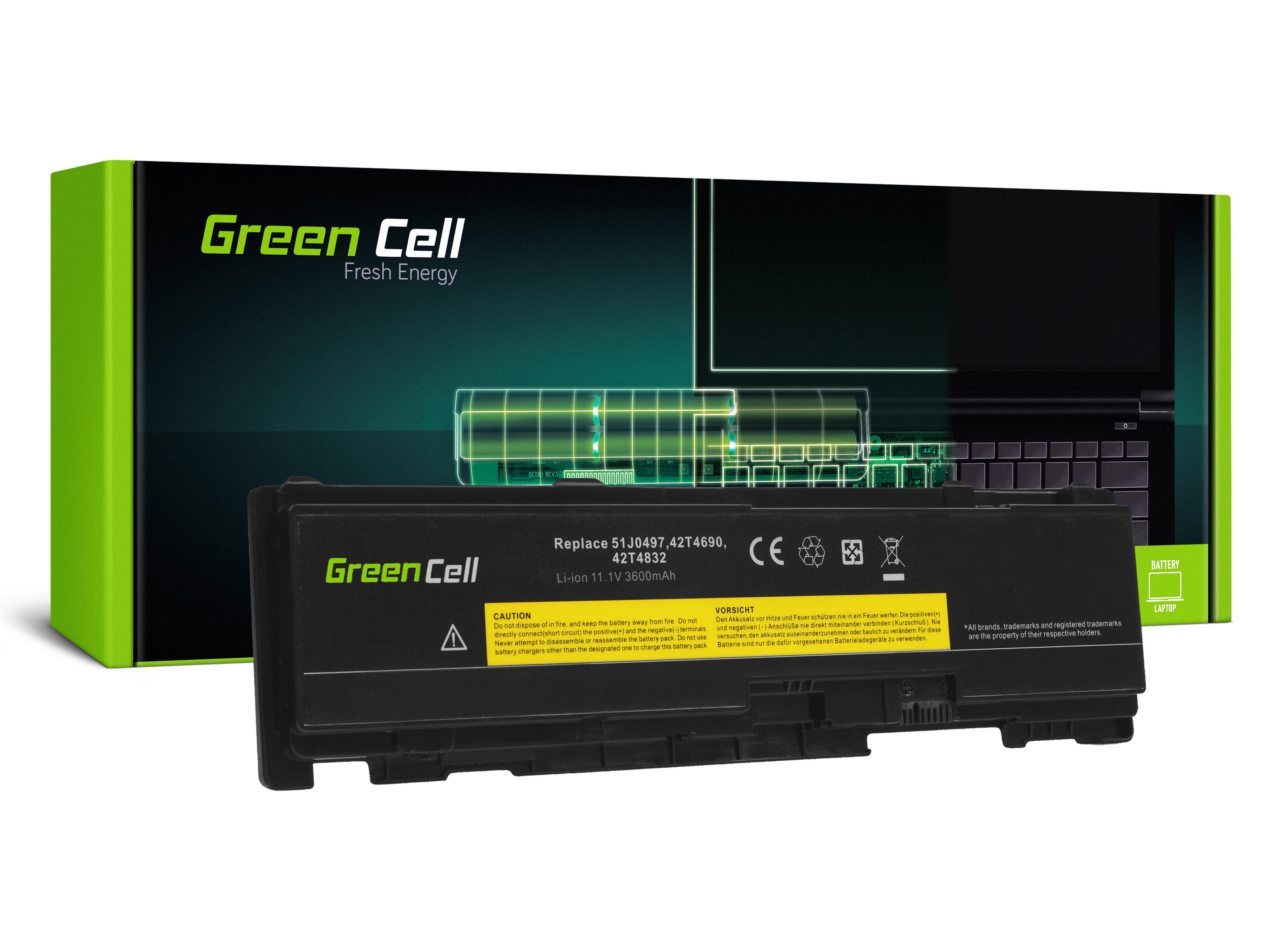 Green Cell LE149 Baterie Lenovo ThinkPad T400s T410s T410si 3600mAh Li-Pol – neoriginální