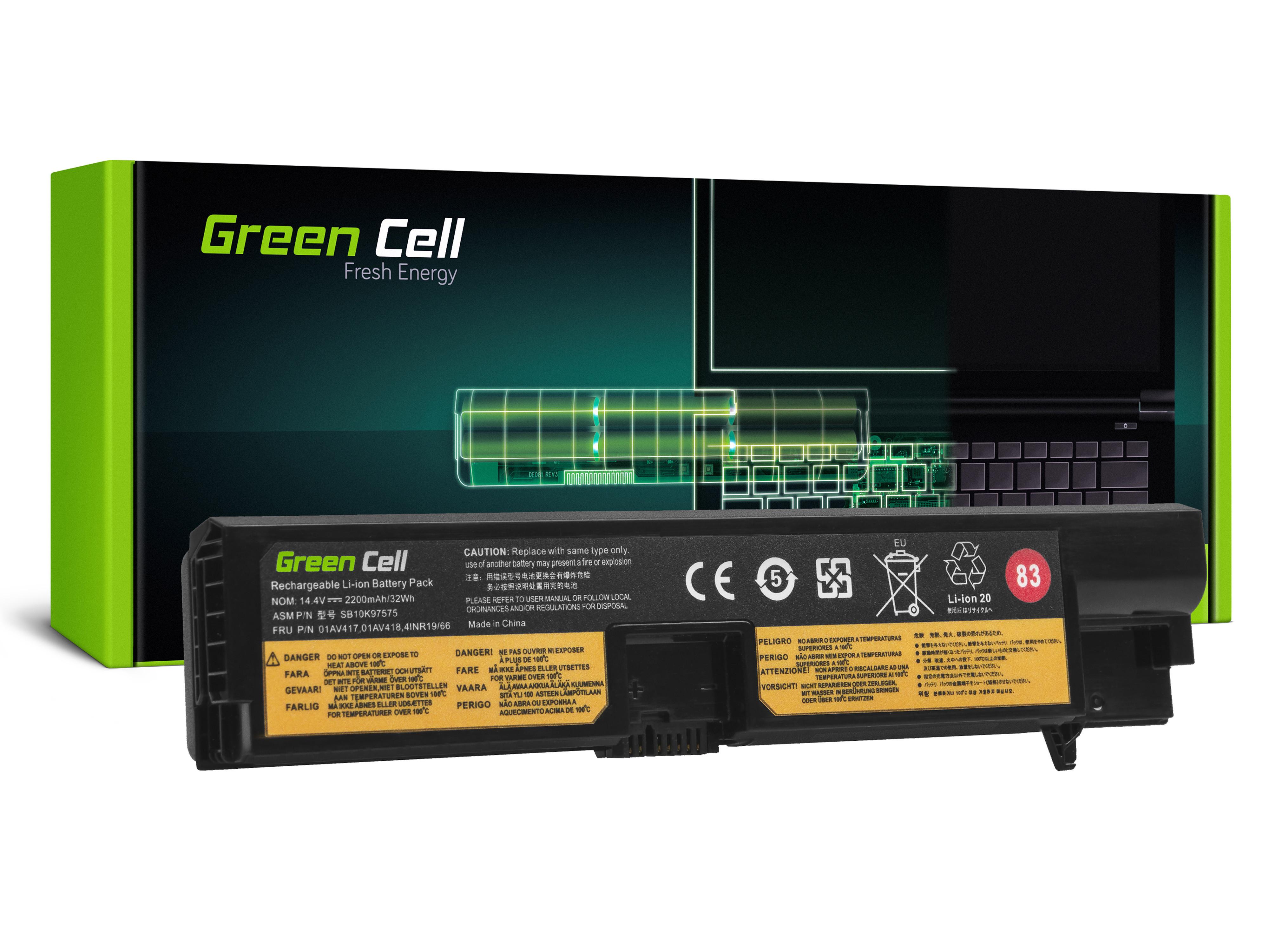 Green Cell LE147 Baterie Lenovo ThinkPad E570 E570c E575 2200mAh Li-ion - neoriginální