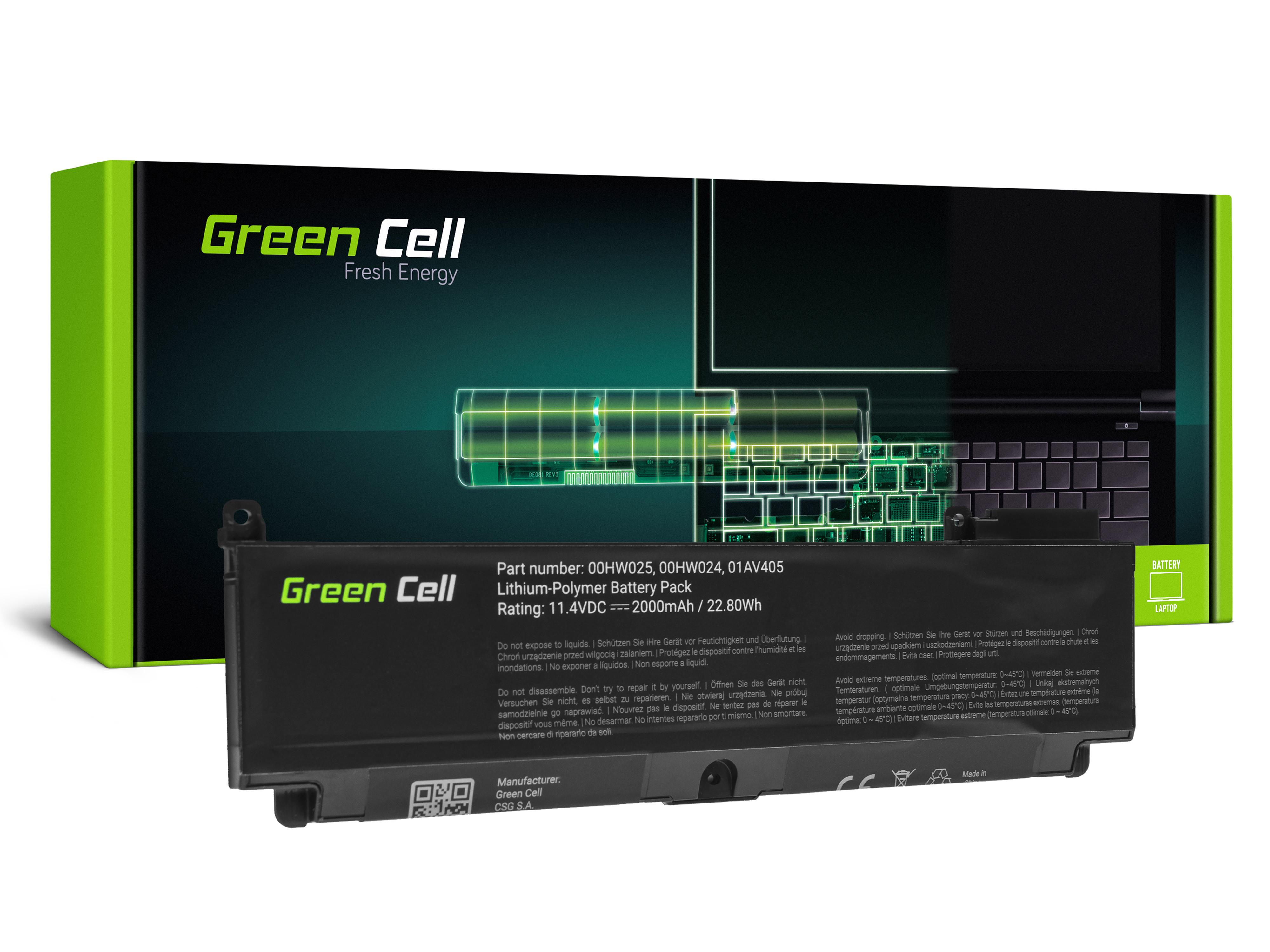 Green Cell LE152 Baterie Lenovo 01AV405 01AV406 01AV407 01AV408 Lenovo ThinkPad T460s T470s 2000mAh Li-Pol – neoriginální