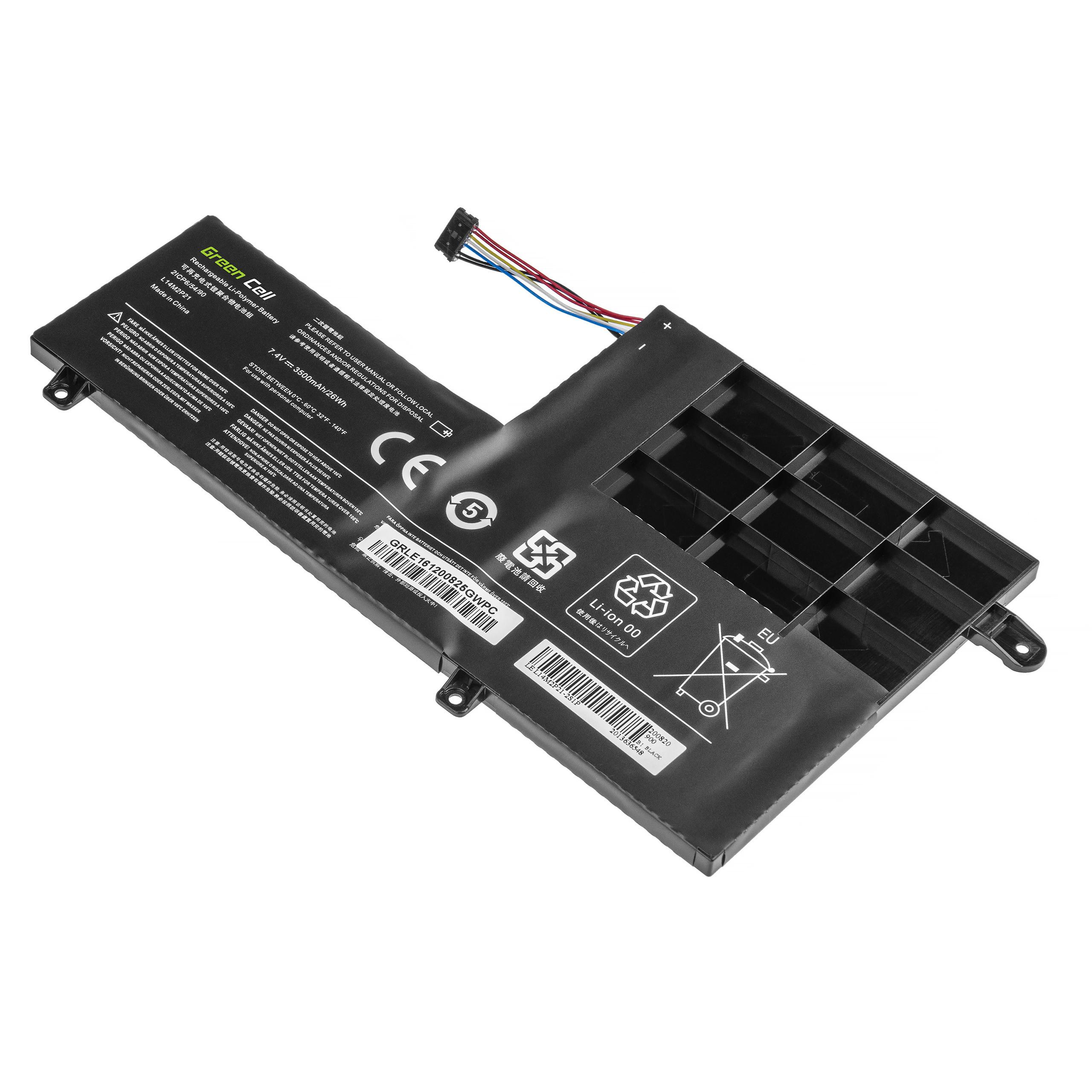 Green Cell Laptop Baterie L14L2P21 L14M2P21 forLenovo Yoga 500-14 500-14IBD 500-14ISK 500-15 500-15IBD 500-15ISK