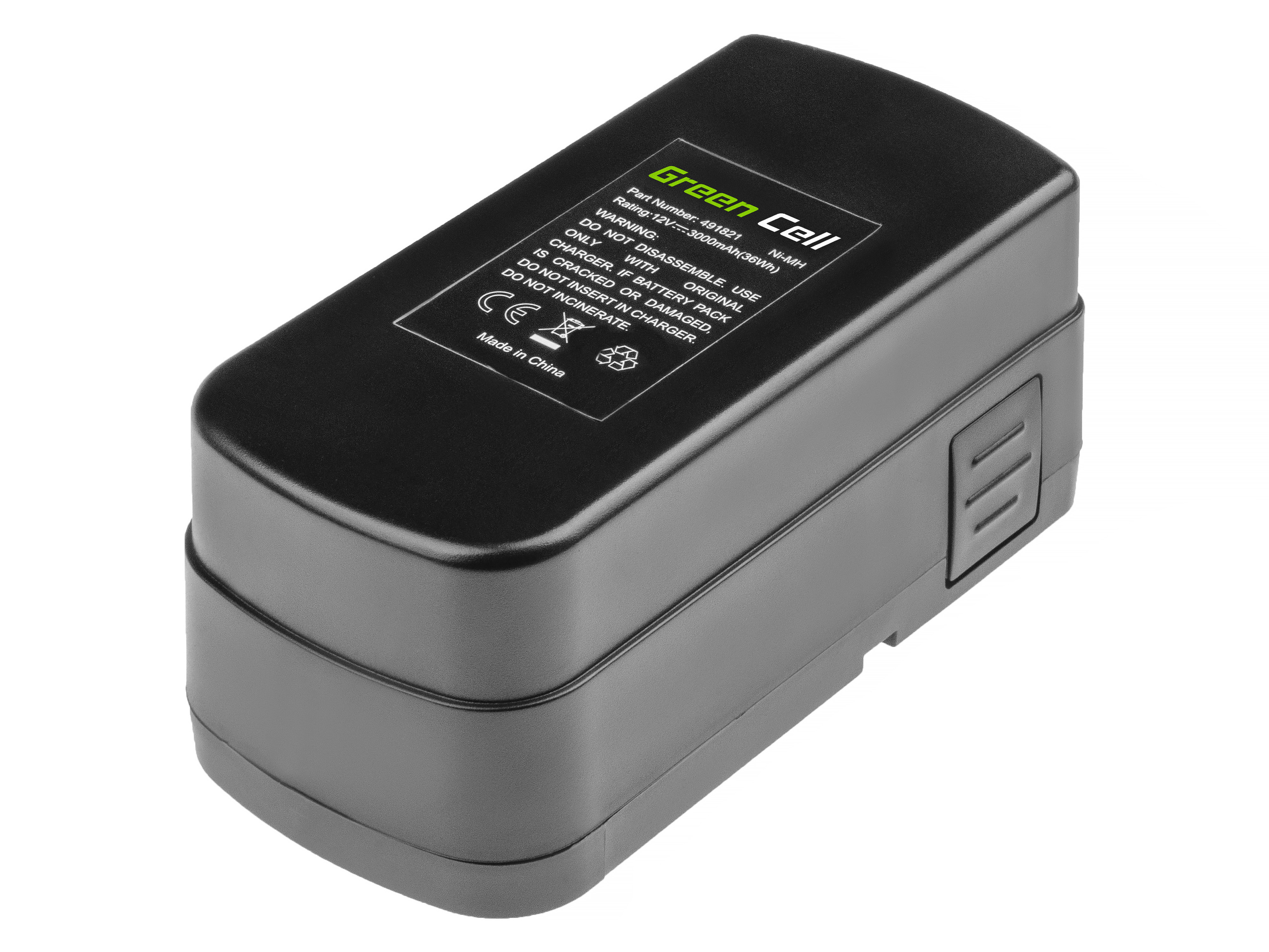 Baterie Green Cell Festool BPC12 12V 3000mAh Ni-MH – neoriginální