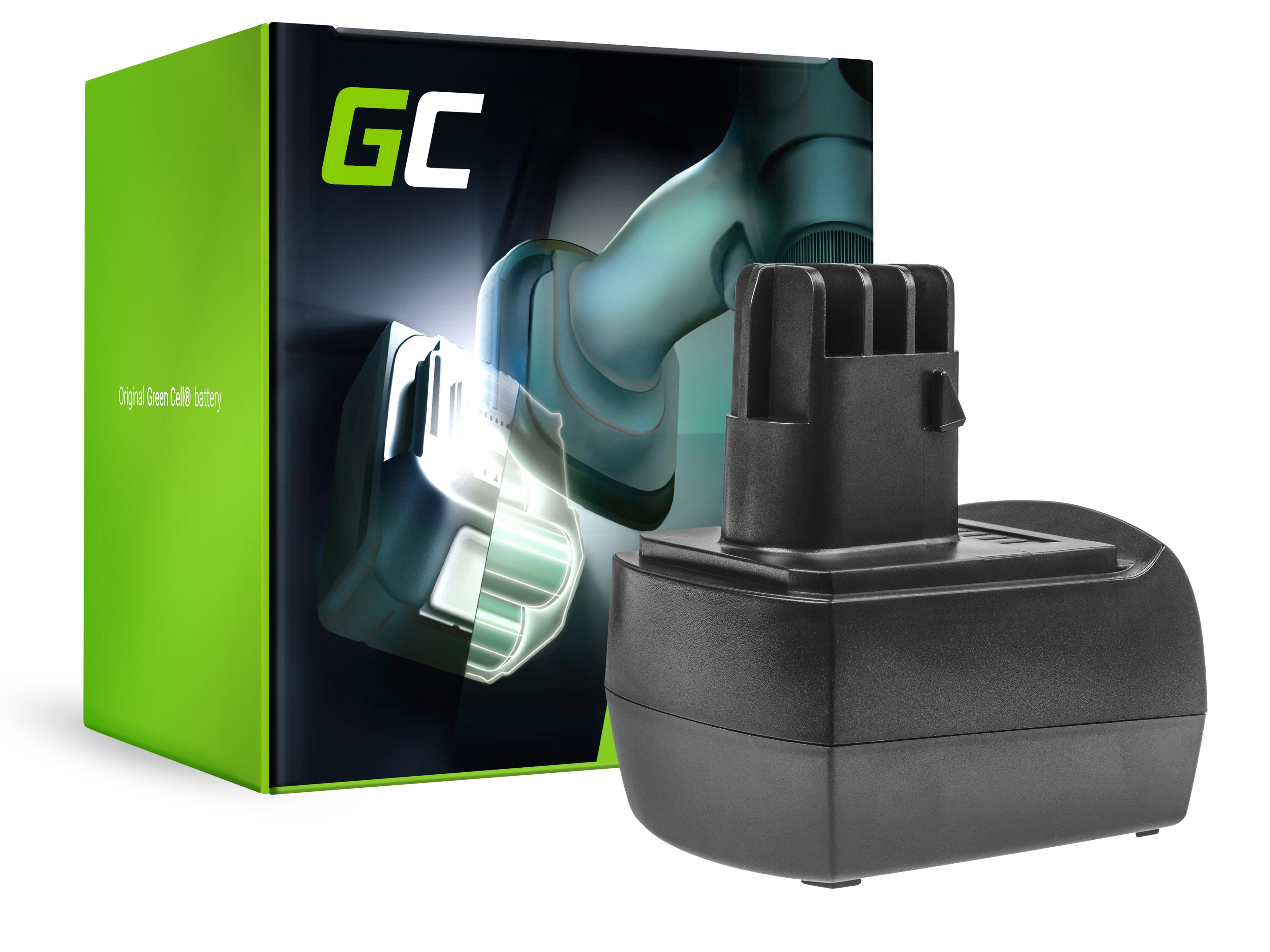 Green Cell Baterie (3Ah 12V) 6.25474 6.25486 6.25473 Metabo BSZ 12, BSZ 12 Impuls, BSZ 12 Premium, BZ 12 SP, SSP 12