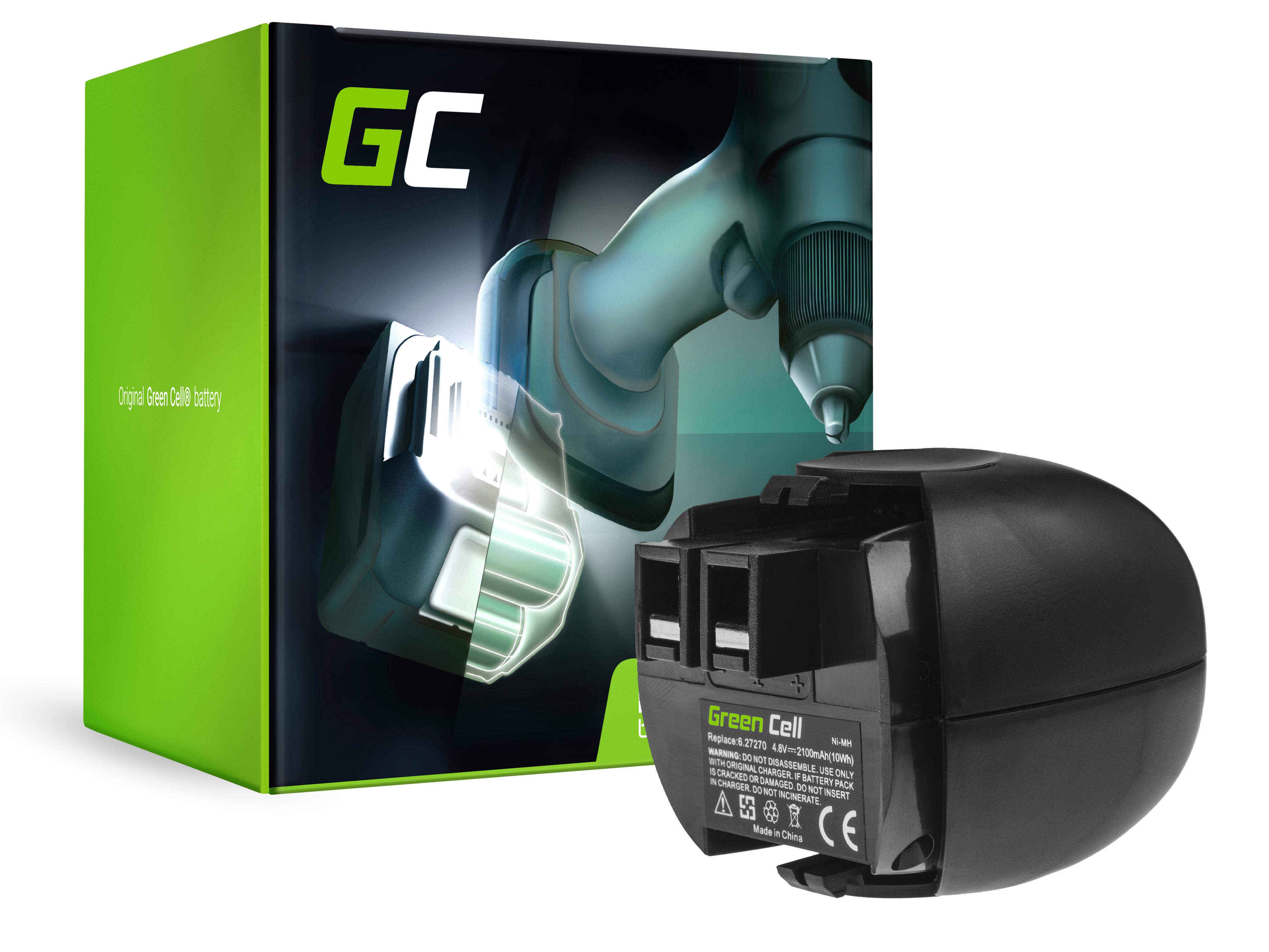 Baterie Green Cell Metabo 6.00059.5 00064000 4.8V 2100mAh Ni-MH – neoriginální