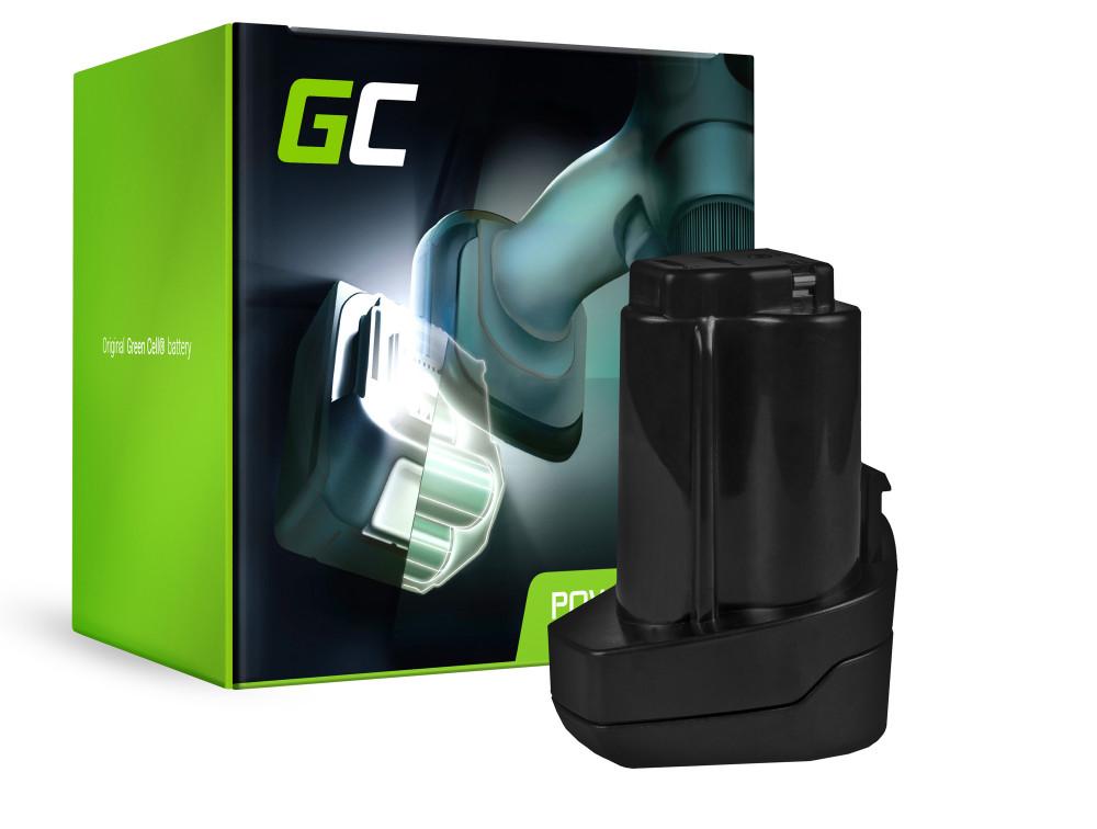 Green Cell Power Tool akkumulátor Metabo 6,25439 10.8V 2Ah