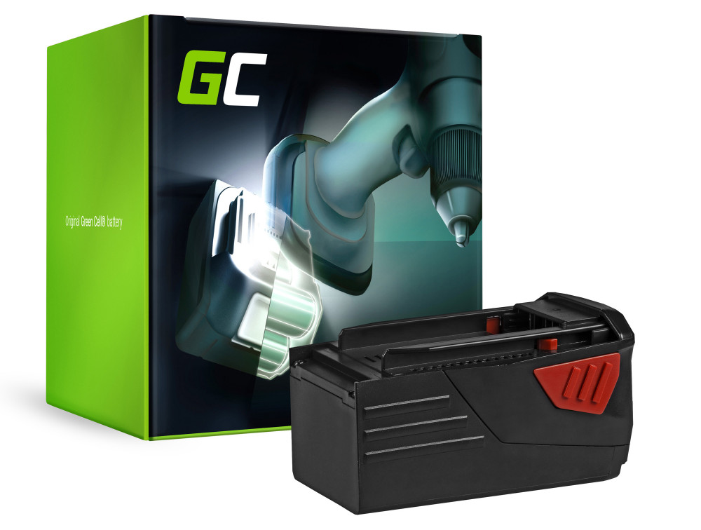 Green Cell Power Tool akkumulátor HILTI TE6A 36V 3Ah