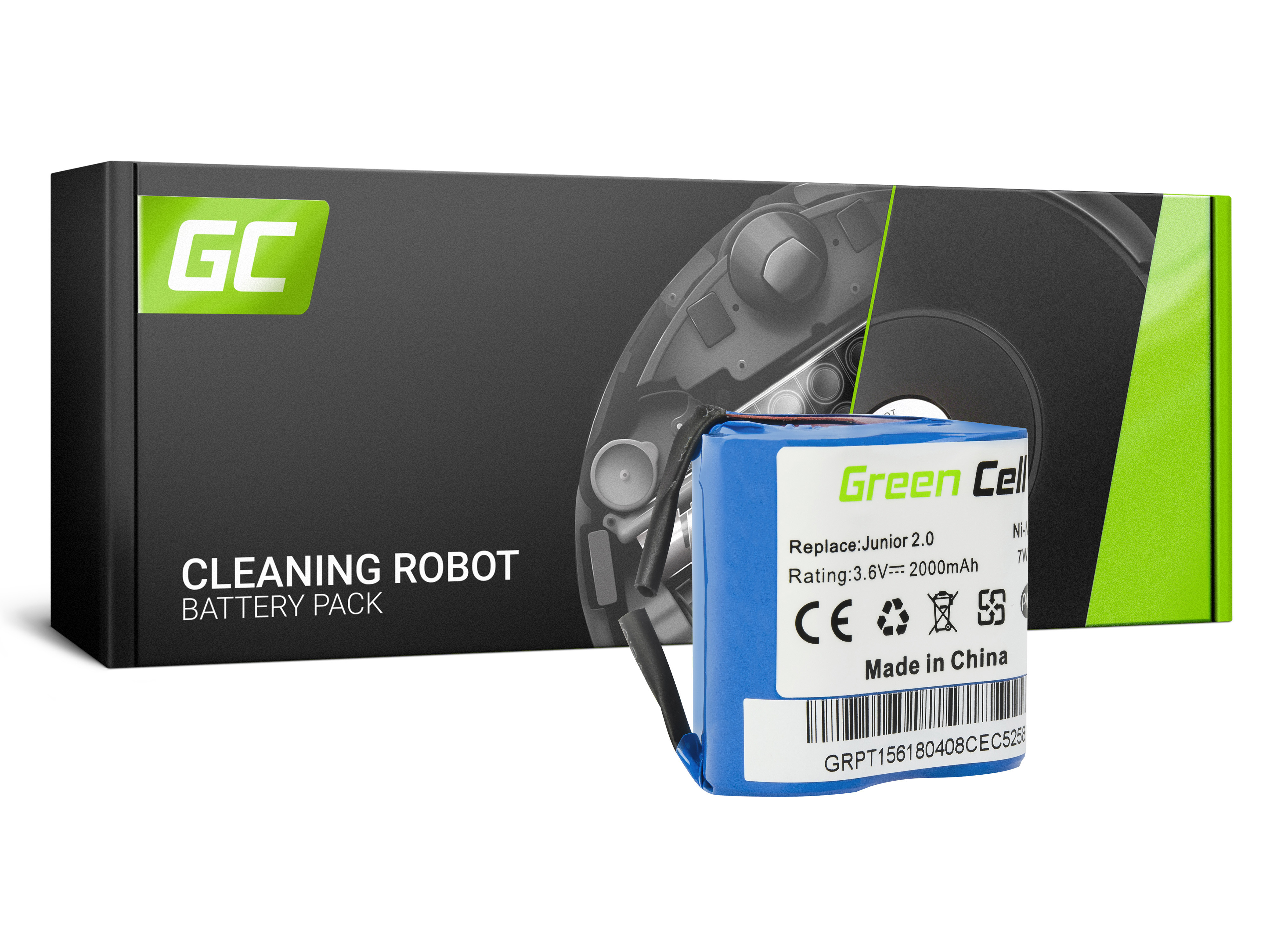 Baterie Green Cell Electrolux Type141 AEG Electrolux Junior 2.0 3.6V 2000mAh Ni-MH – neoriginální