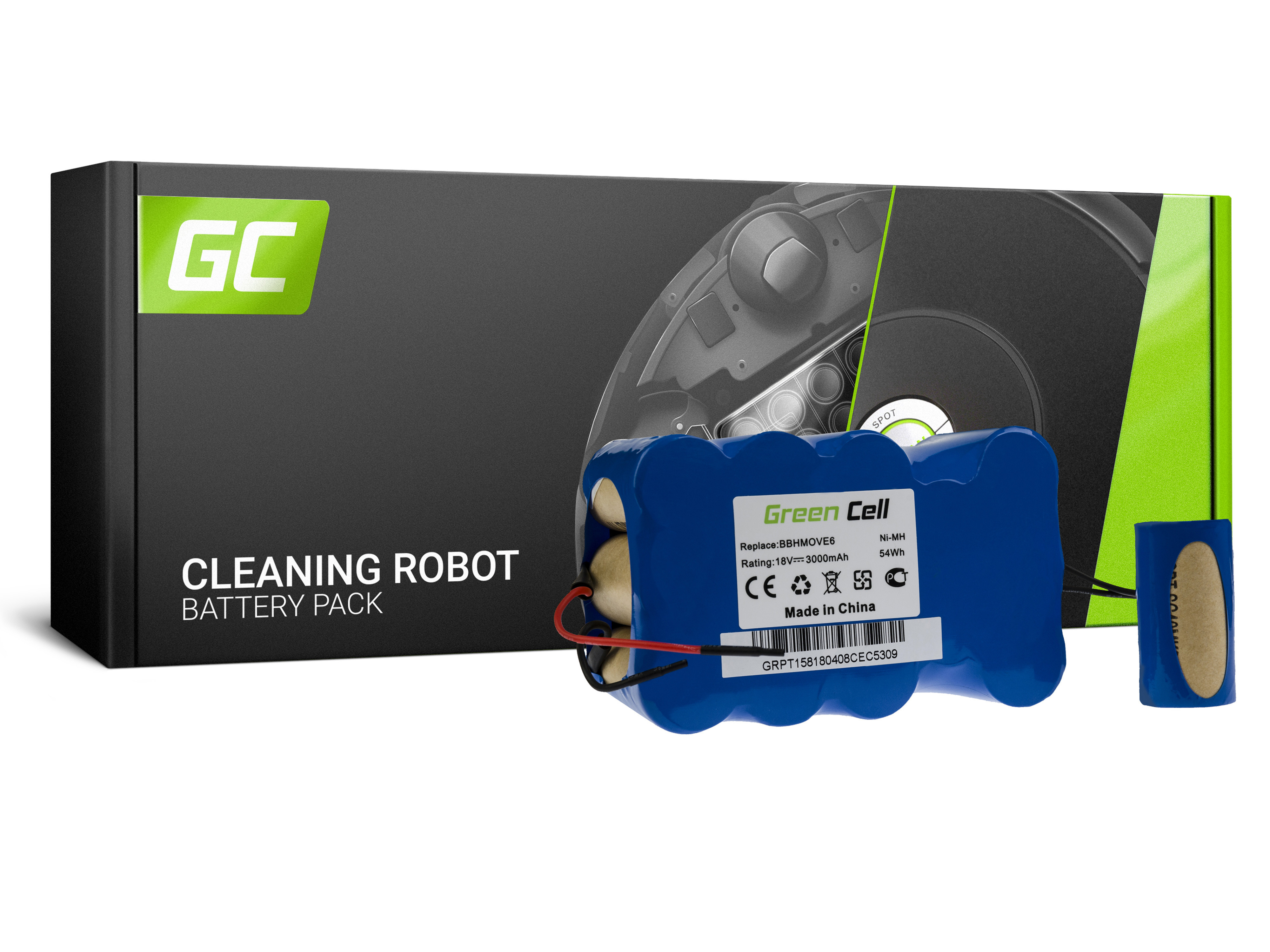 Baterie Green Cell Bosch FD9403 do vysavačů Bosch BBHMOVE4 BBHMOVE5 BBHMOVE6 18V 3000 mAh Ni-MH – neoriginální