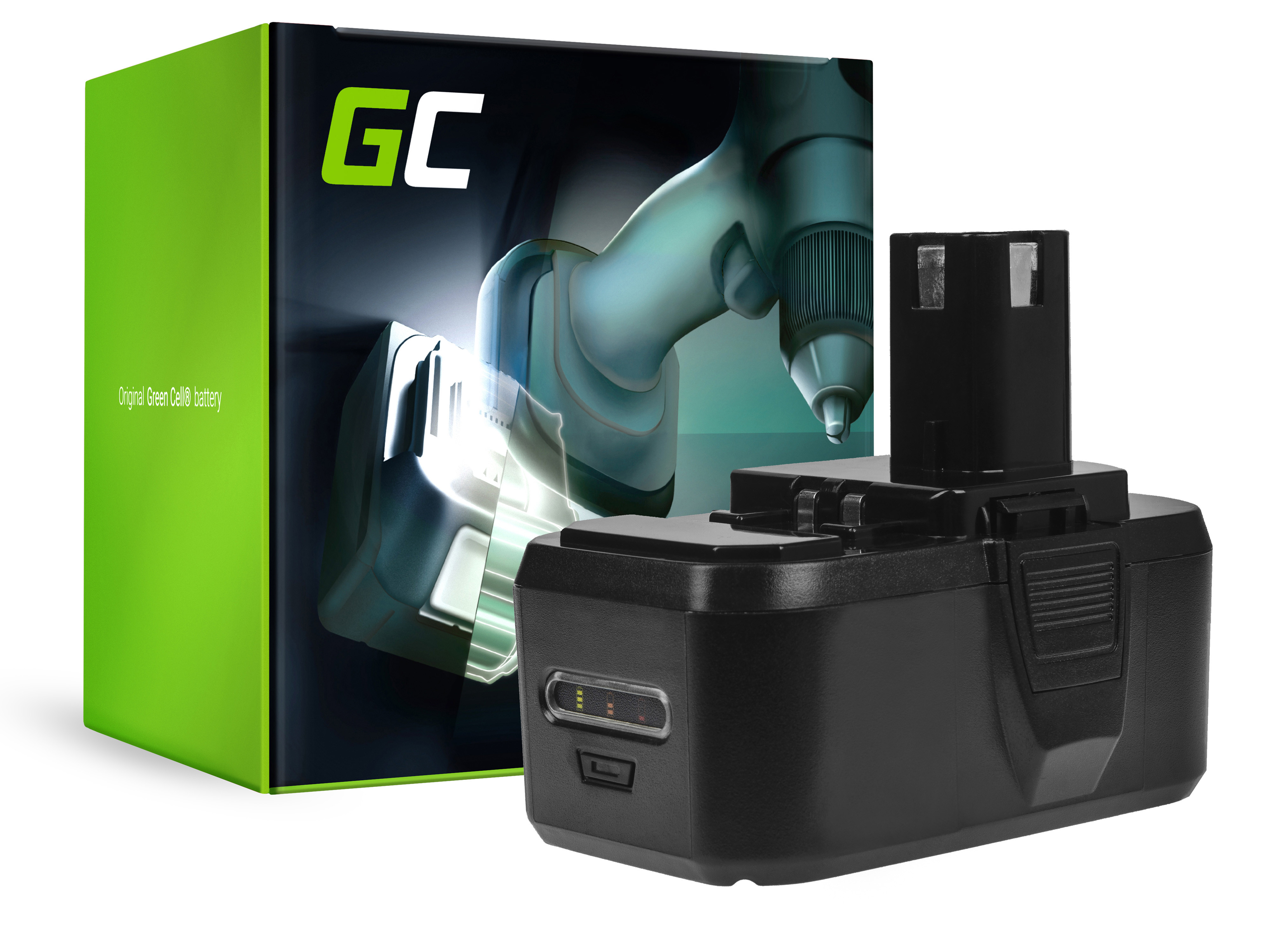 Green Cell PT193 Baterie Ryobi ONE + RB18L50,RB18L15,RYOBI R18AG0 R18JS0 R18PDBL RCD18022L RID1801M RMT1801M 18V 4000mAh Li-ion - neoriginální