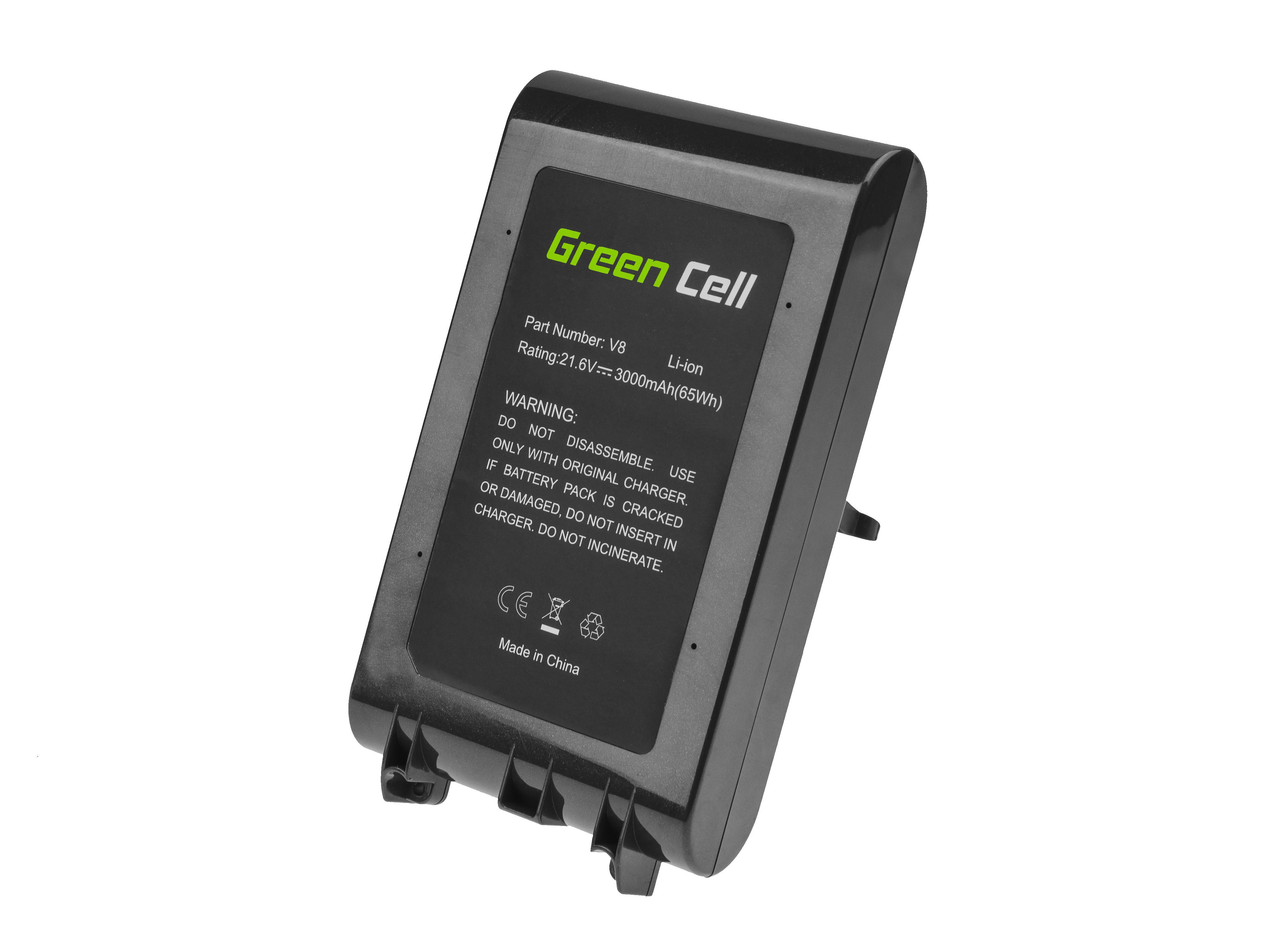 Green Cell PT229 Baterie Dyson 967834-02 967834-05, Dyson V8 SV10 Absolute Pro Vacuum Animal Plus 3000mAh Li-ion - neoriginální