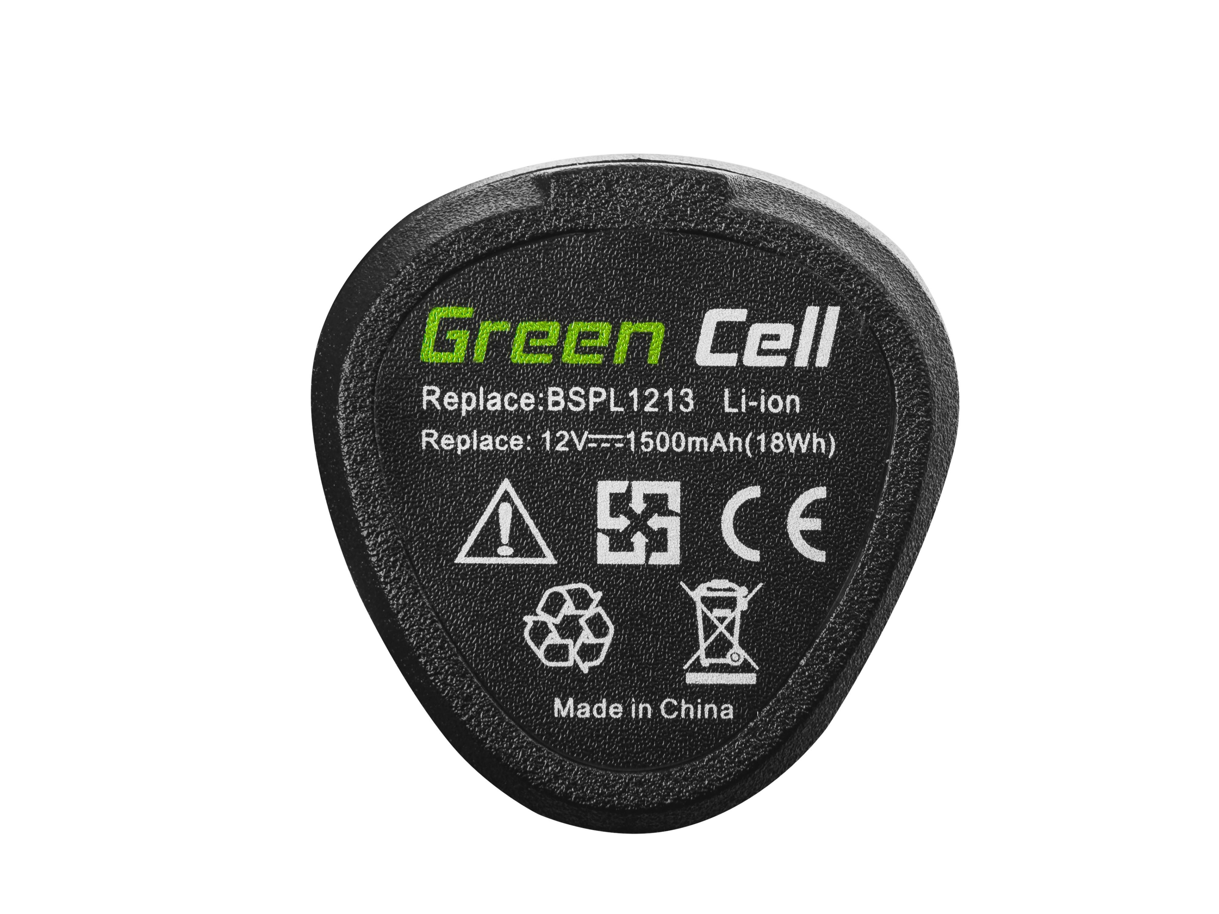 Green Cell Baterie (1.5Ah 12V) BSPL1213 B-1013L pro RYOBI RCD1201 RCD12011L RCD12012L RCD12011L RCD RMT 1201 R12DD-LL13S