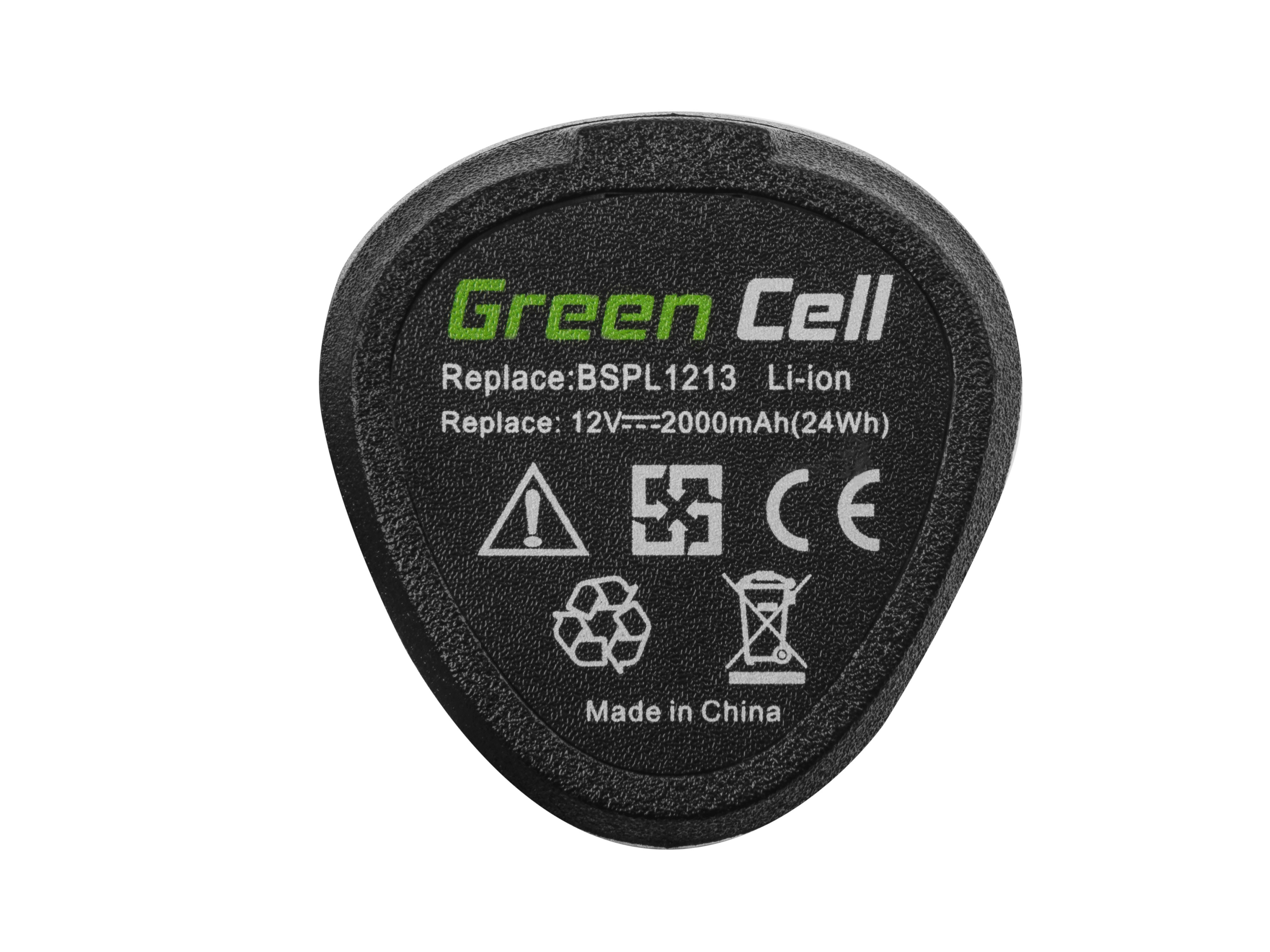 Green Cell Baterie (2Ah 12V) 5130200008 BSPL1213 B-1013L pro Ryobi RCD12011L RMT12011L RRS12011L BB-1600 BHT-2600
