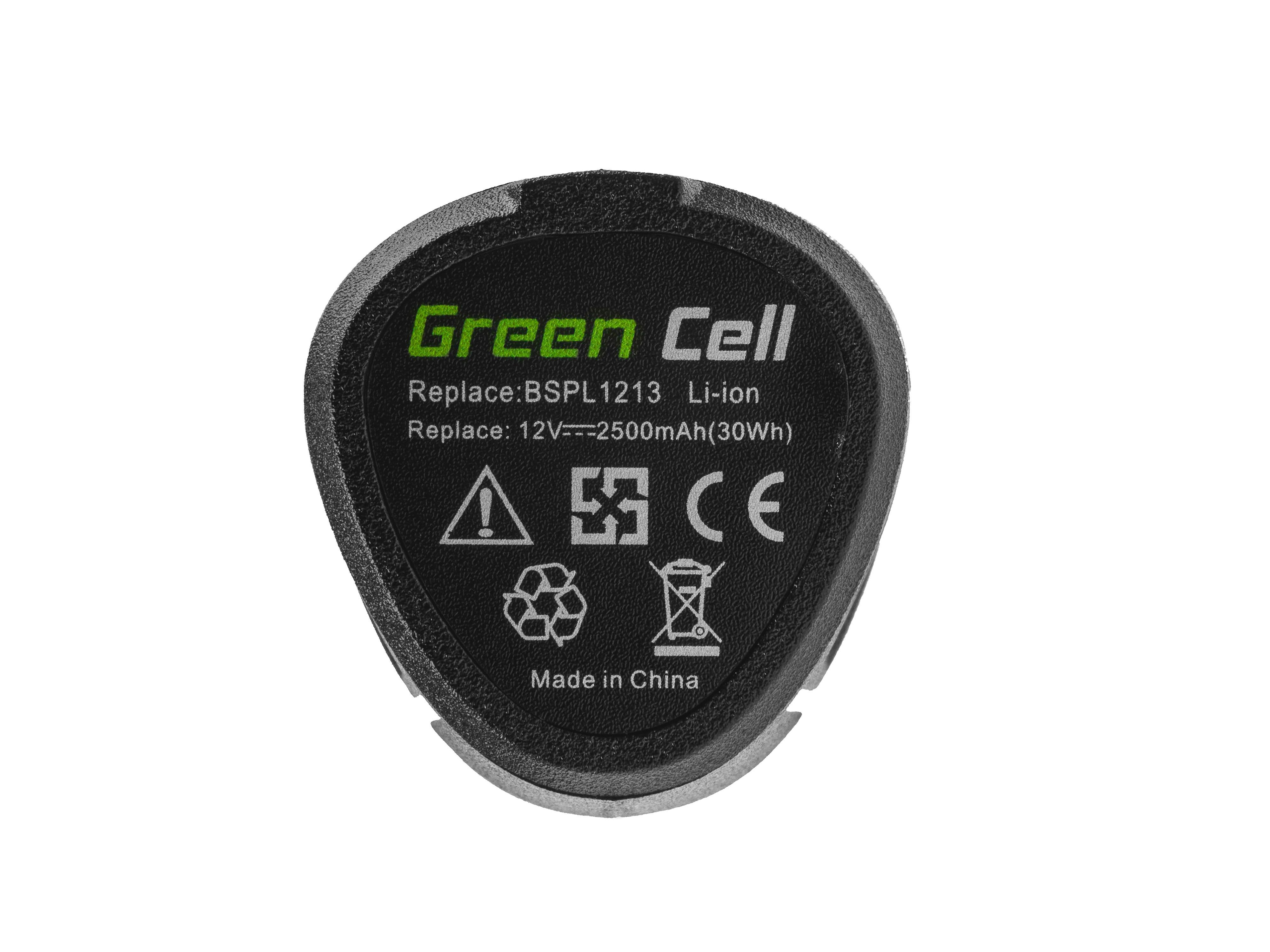 Green Cell Baterie (2.5Ah 12V) 5130200008 BSPL1213 B-1013L pro Ryobi RCD12011L RMT12011L RRS12011L BB-1600 BHT-2600