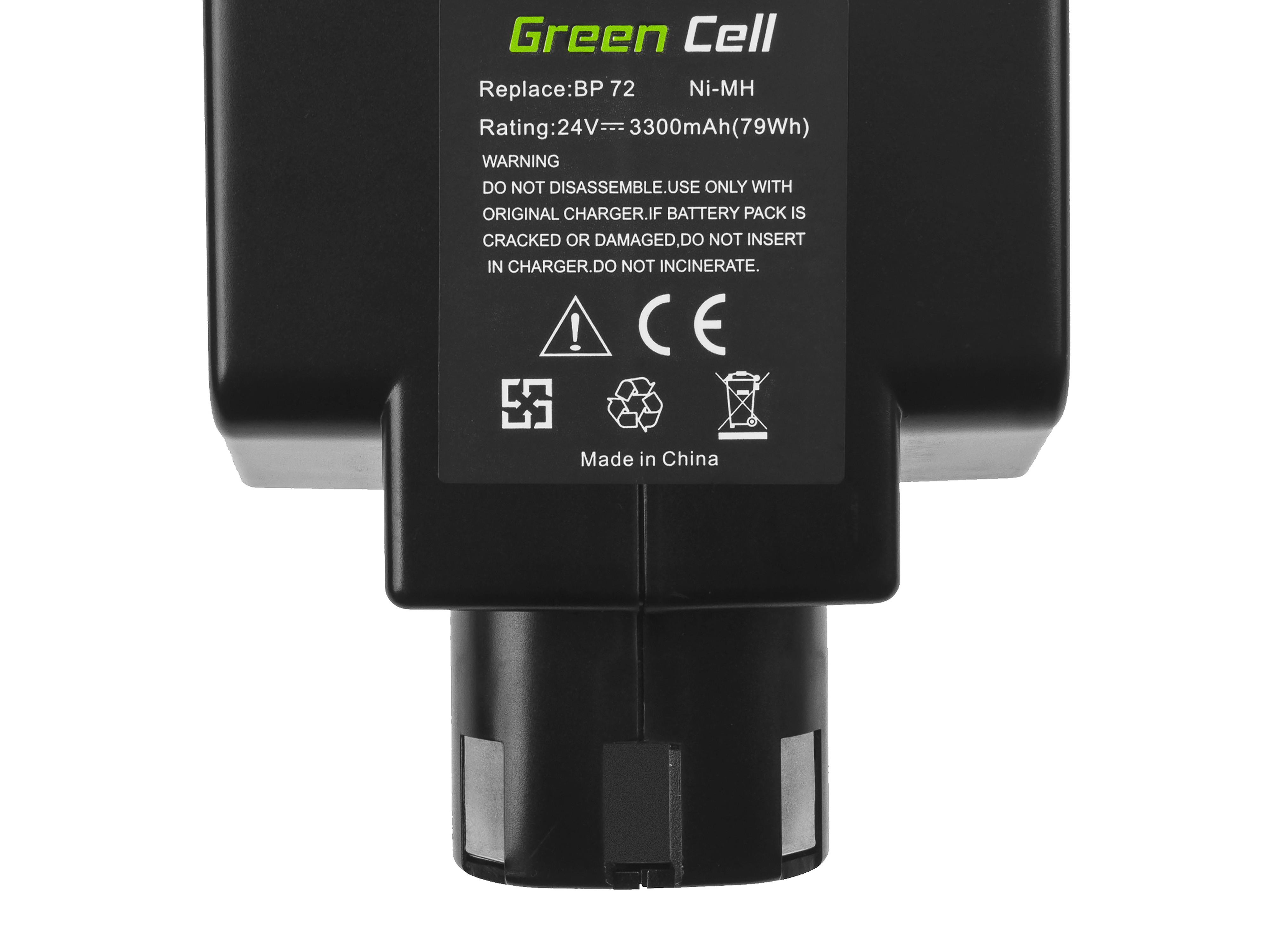 Battery (3.3Ah 24V) BP 40 BP 60 BP 72 Green Cell for Hilti C 7/24 C 7/36 TCU 7/36