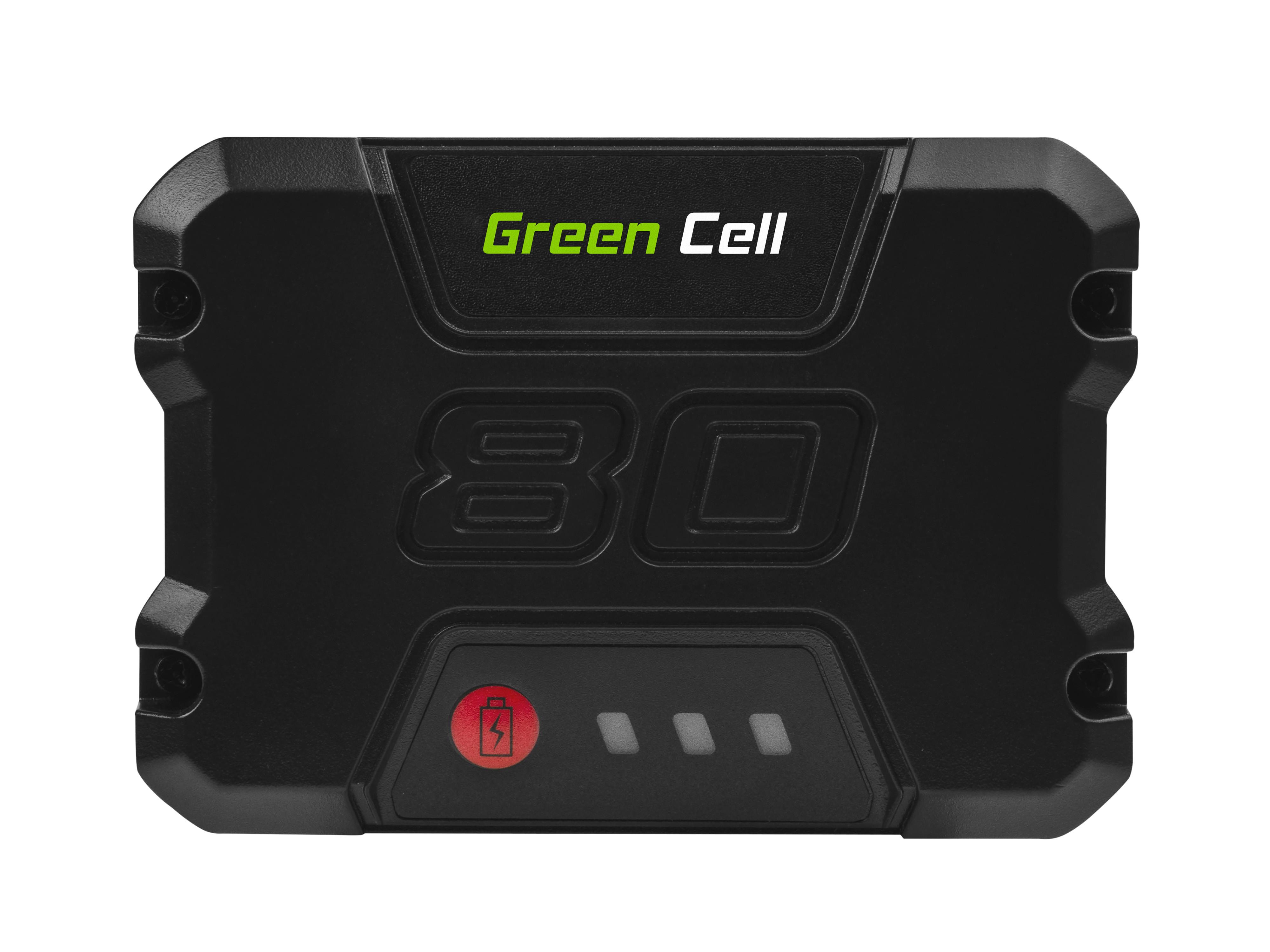 Green Cell PT249 Baterie Green Works GBA80200 2901302,GreenWorks Pro 80V GHT80321 GBL80300 ST80L210 80V 2000mAh Li-ion - neoriginální