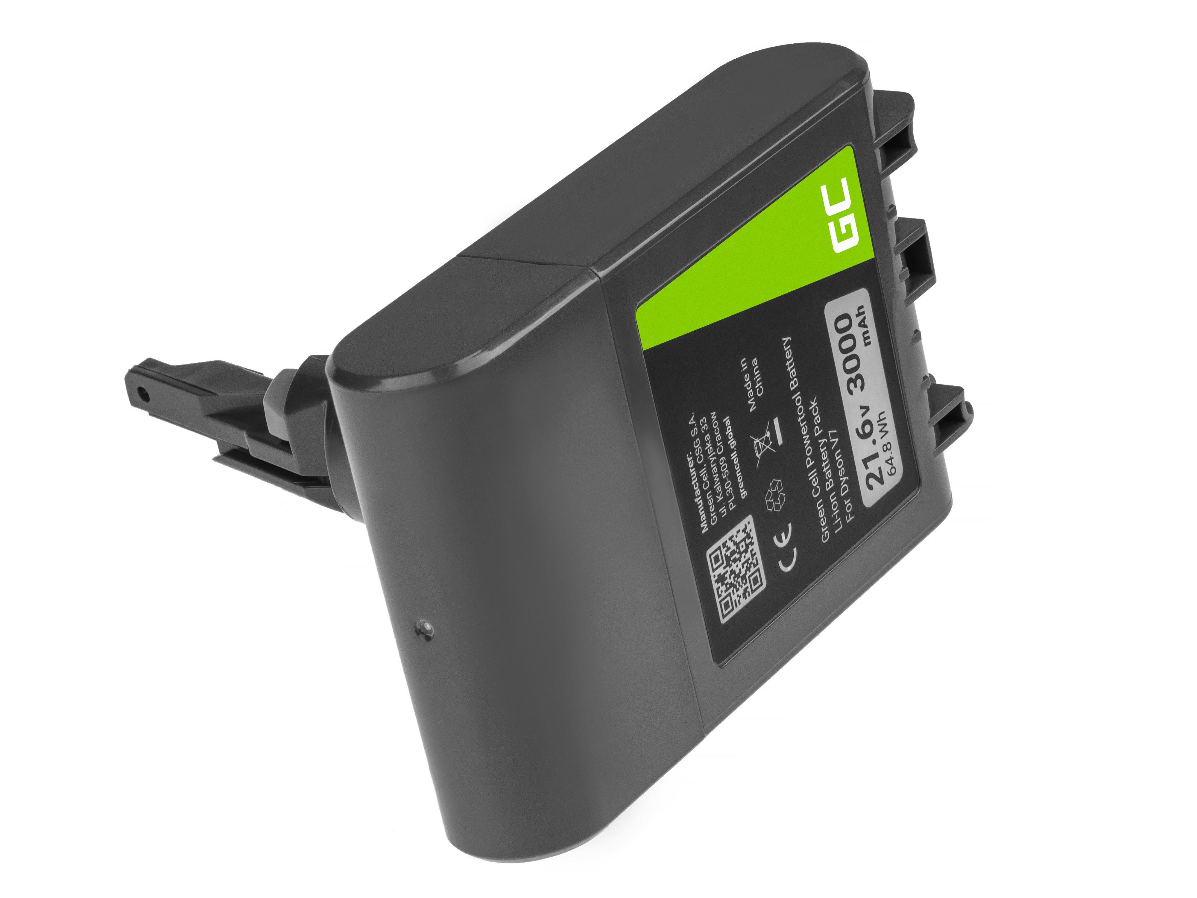Green Cell PT257 Baterie Dyson 968670-02 968670-03 968670-06 SV11, Dyson V7 Animal Pro+ Absolute Car+Boat Trigger 21.6V 3000mAh Li-ion - neoriginální