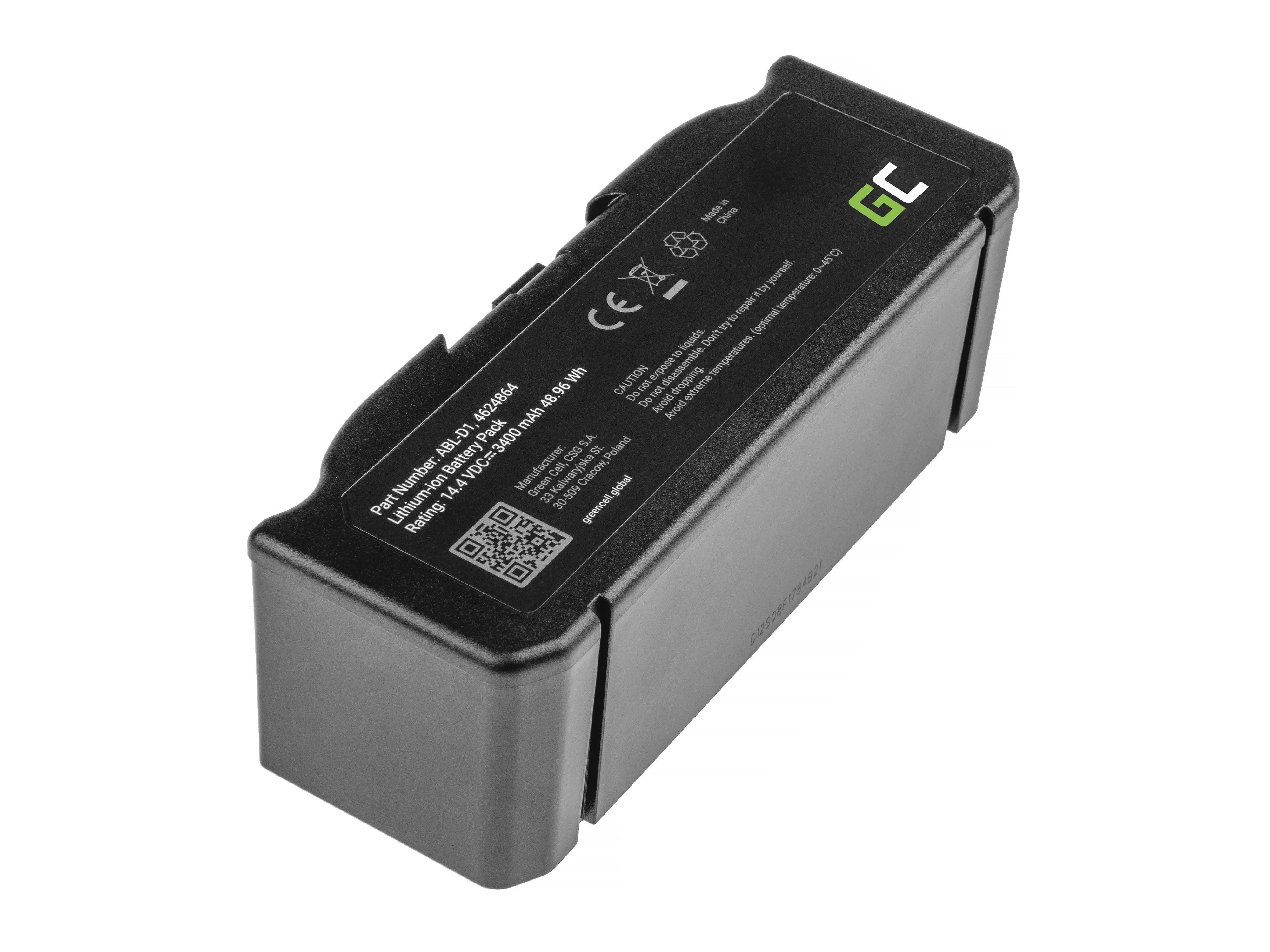 Green Cell PT259 Baterie iRobot ABL-D1, 4624864, iRobot Roomba e5, e6, i3, i3+, i7, i7+, i8, i8+ 14.4V 3400mAh Li-ion - neoriginální