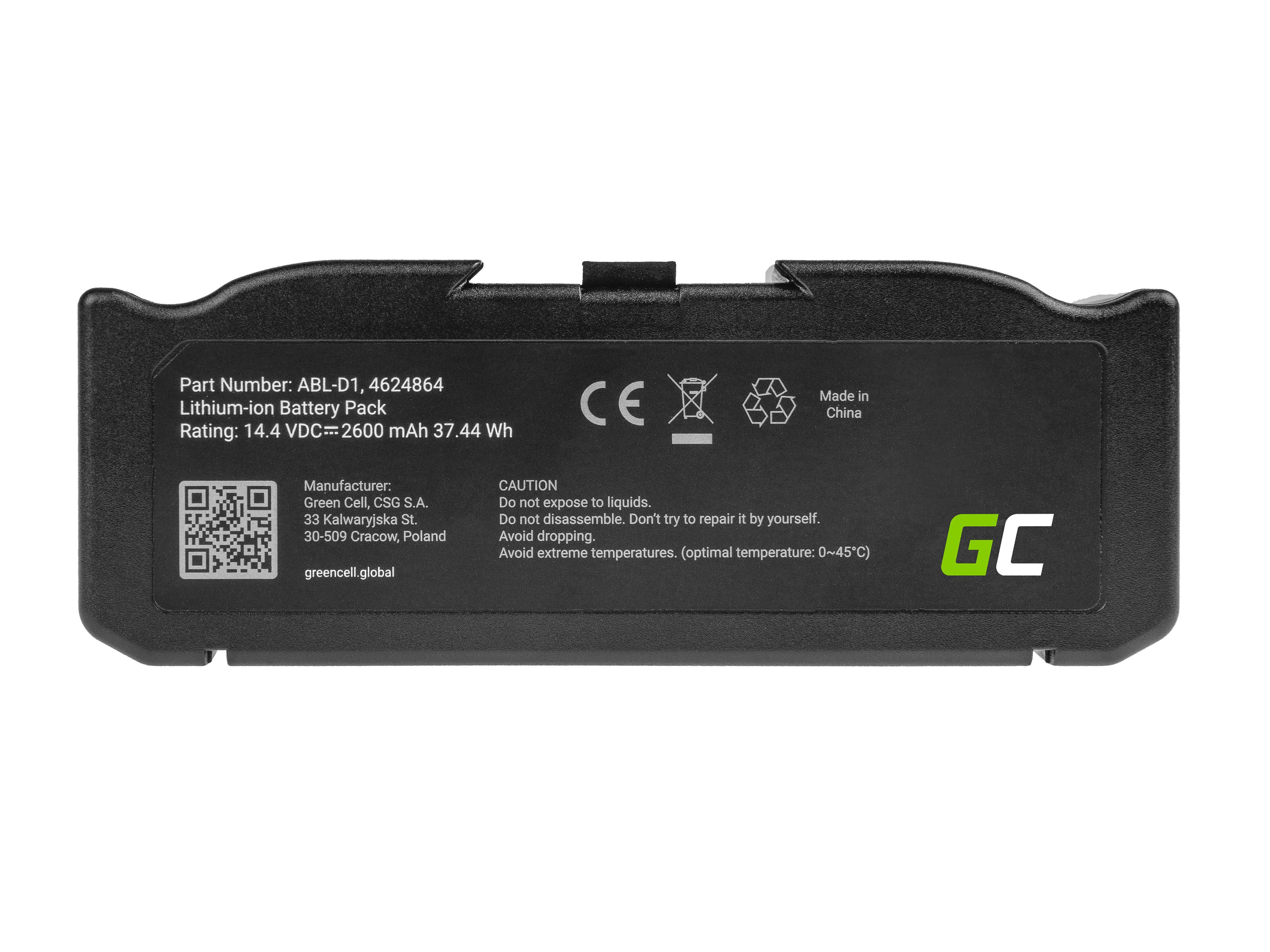 Green Cell PT258 Baterie iRobot ABL-D1, 4624864, iRobot Roomba e5, e6, i3, i3+, i7, i7+, i8, i8+ 14.4V 2600mAh Li-ion - neoriginální