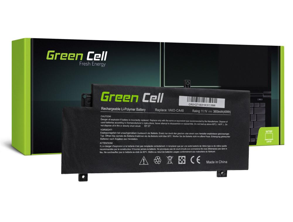 Green Cell akkumulátor Sony Vaio Fit 15 SVF15A / 11,1V 3600mAh