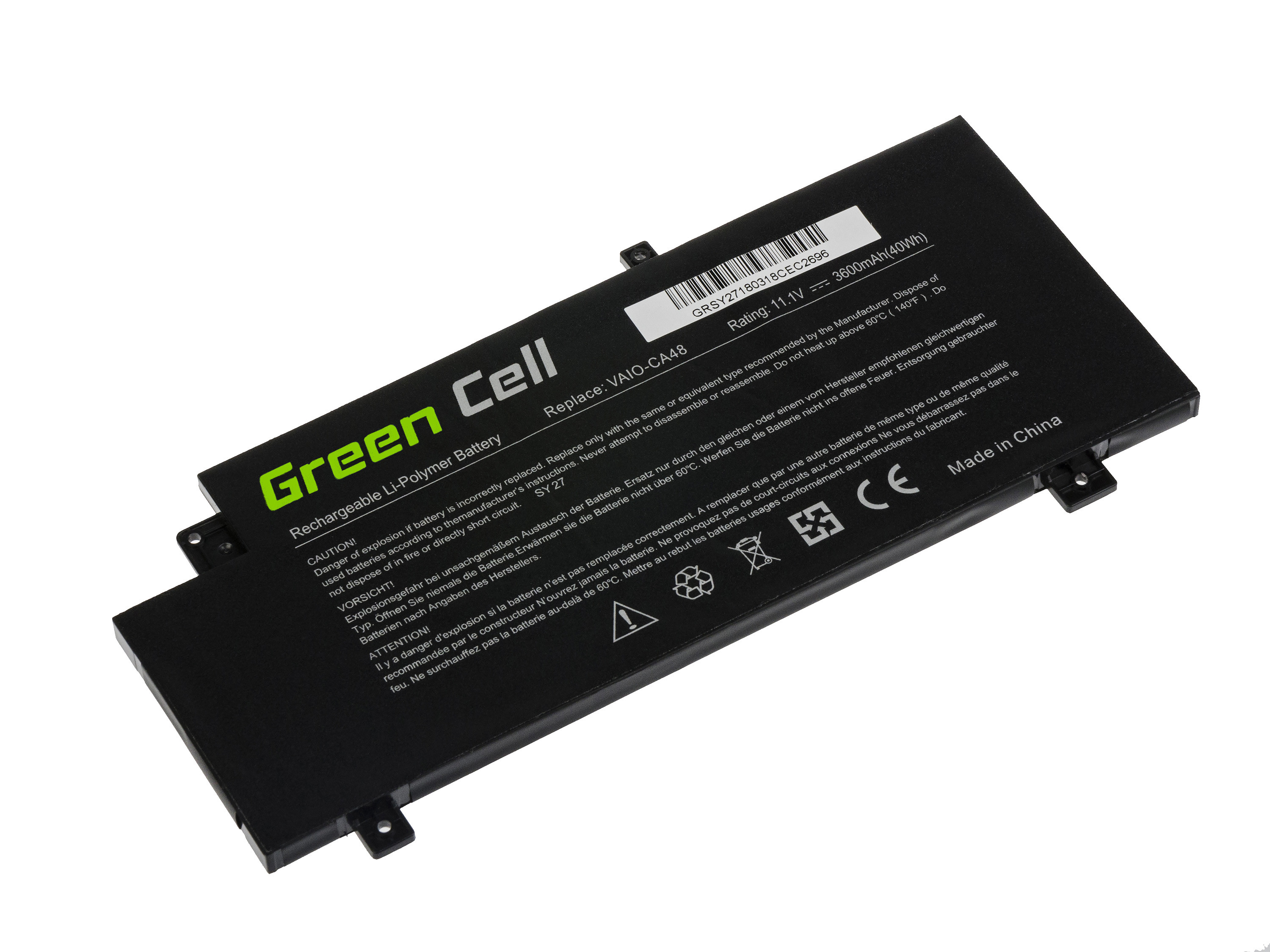 Green Cell Baterie pro Sony Vaio Fit 15 SVF15A / 11,1V 3600mAh