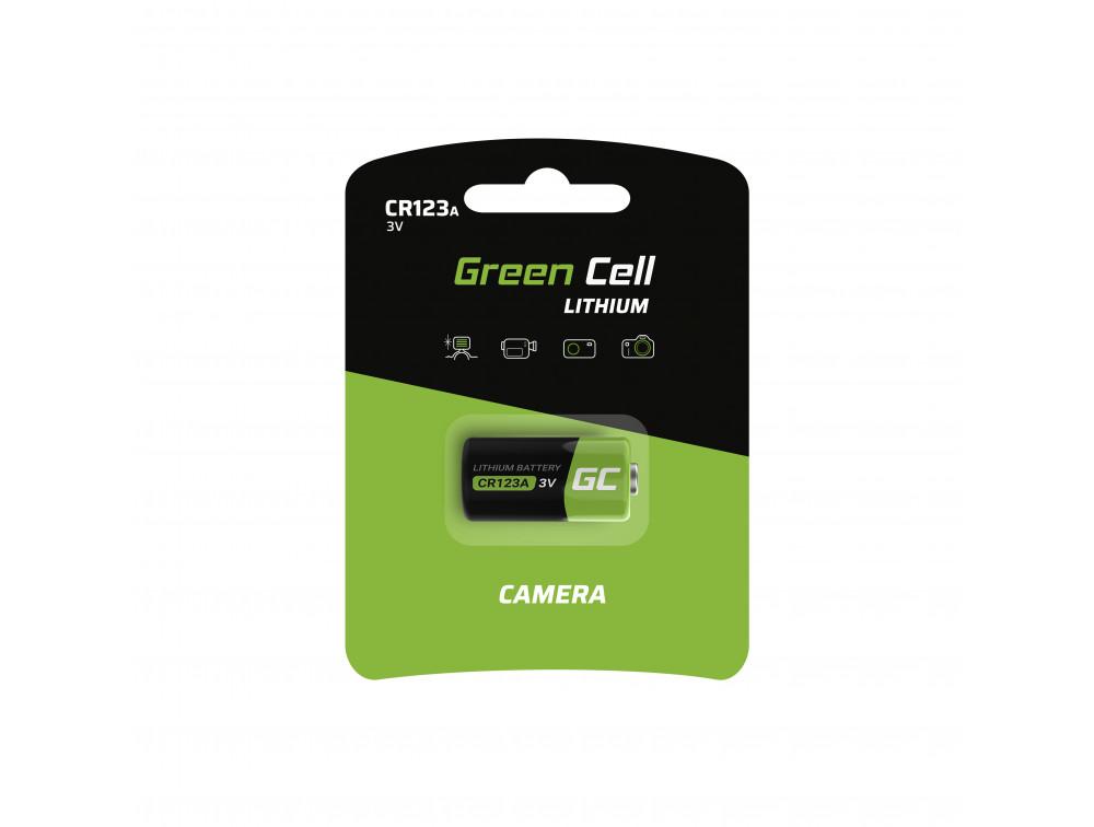 Green Cell CR123A 3V 1400mAh Li elem